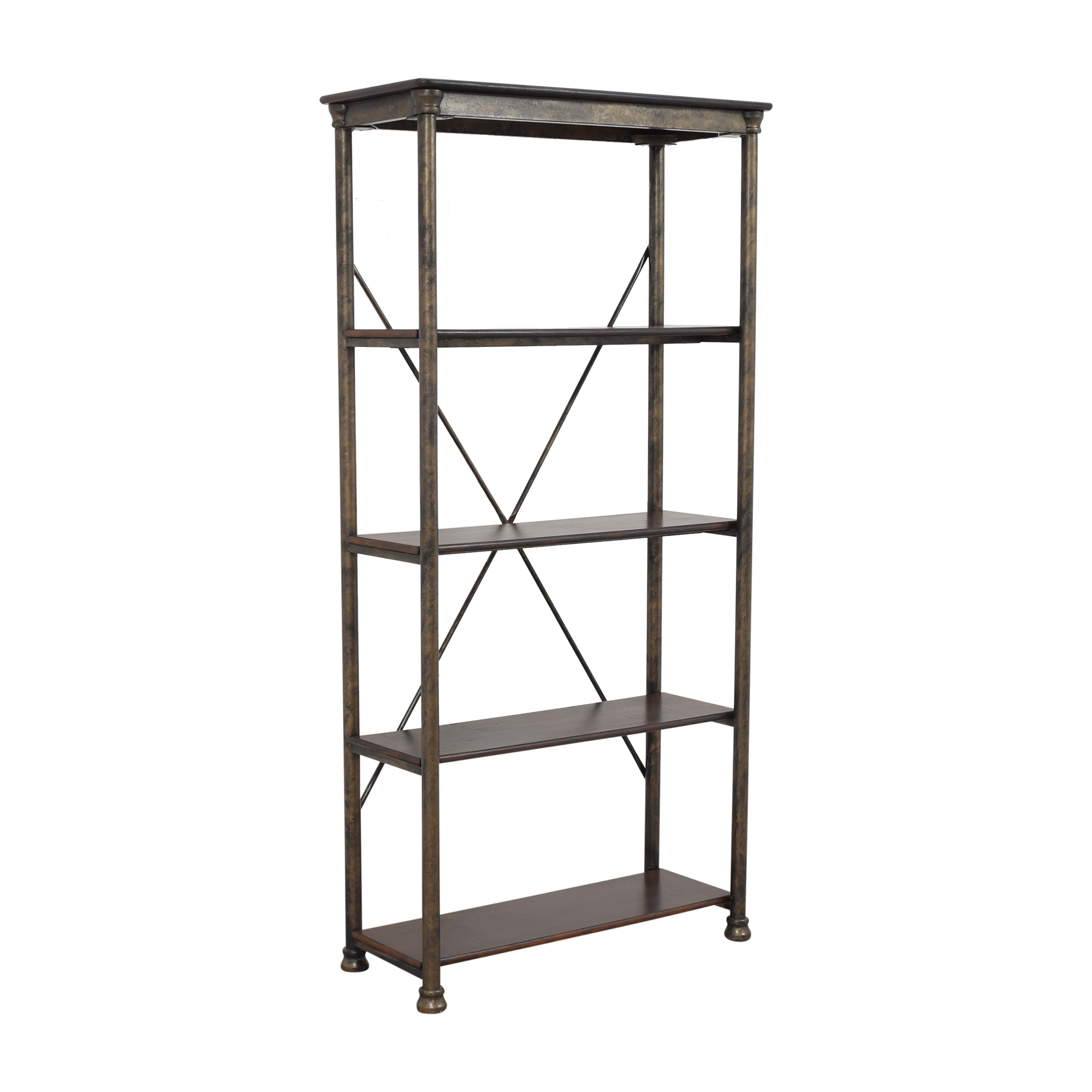 Etagere Bookcase brown and dark gold