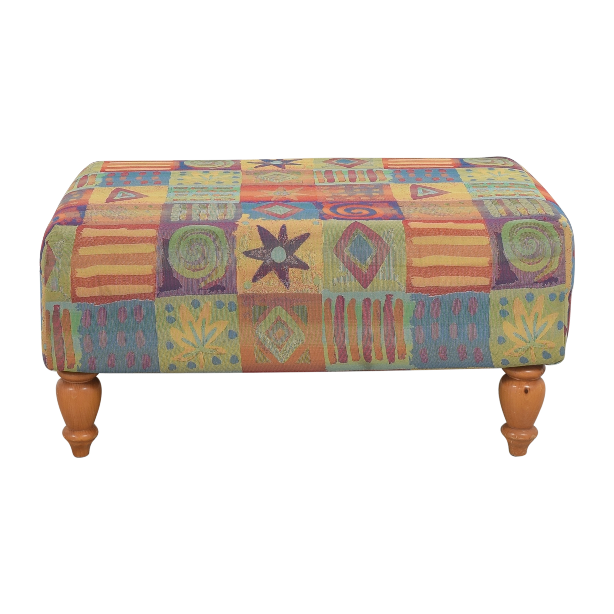 buy Rooms To Go Patterned Ottoman Rooms To Go