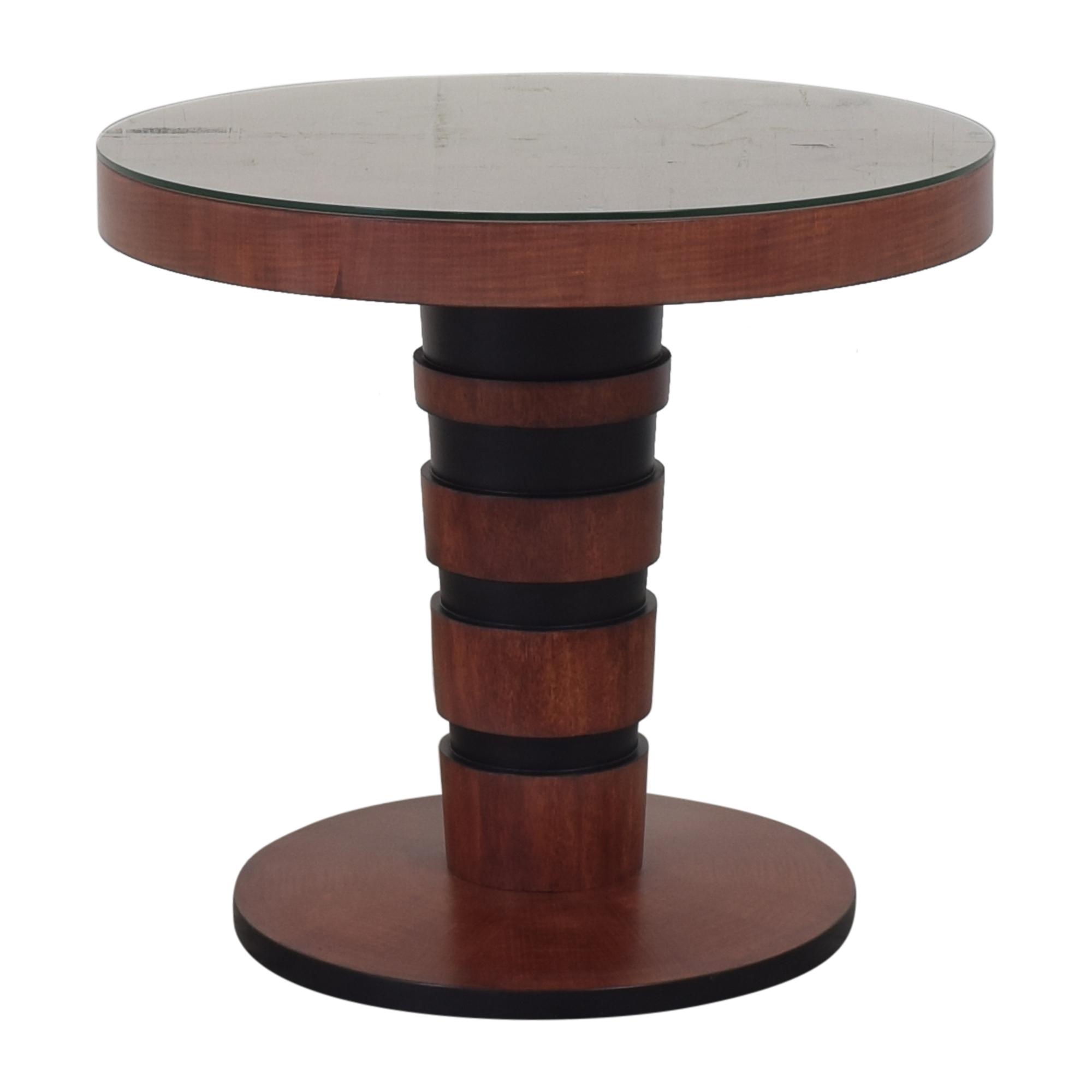 John Widdicomb Co. Larry Laslo for John Widdicomb Co. Round Side Table dimensions