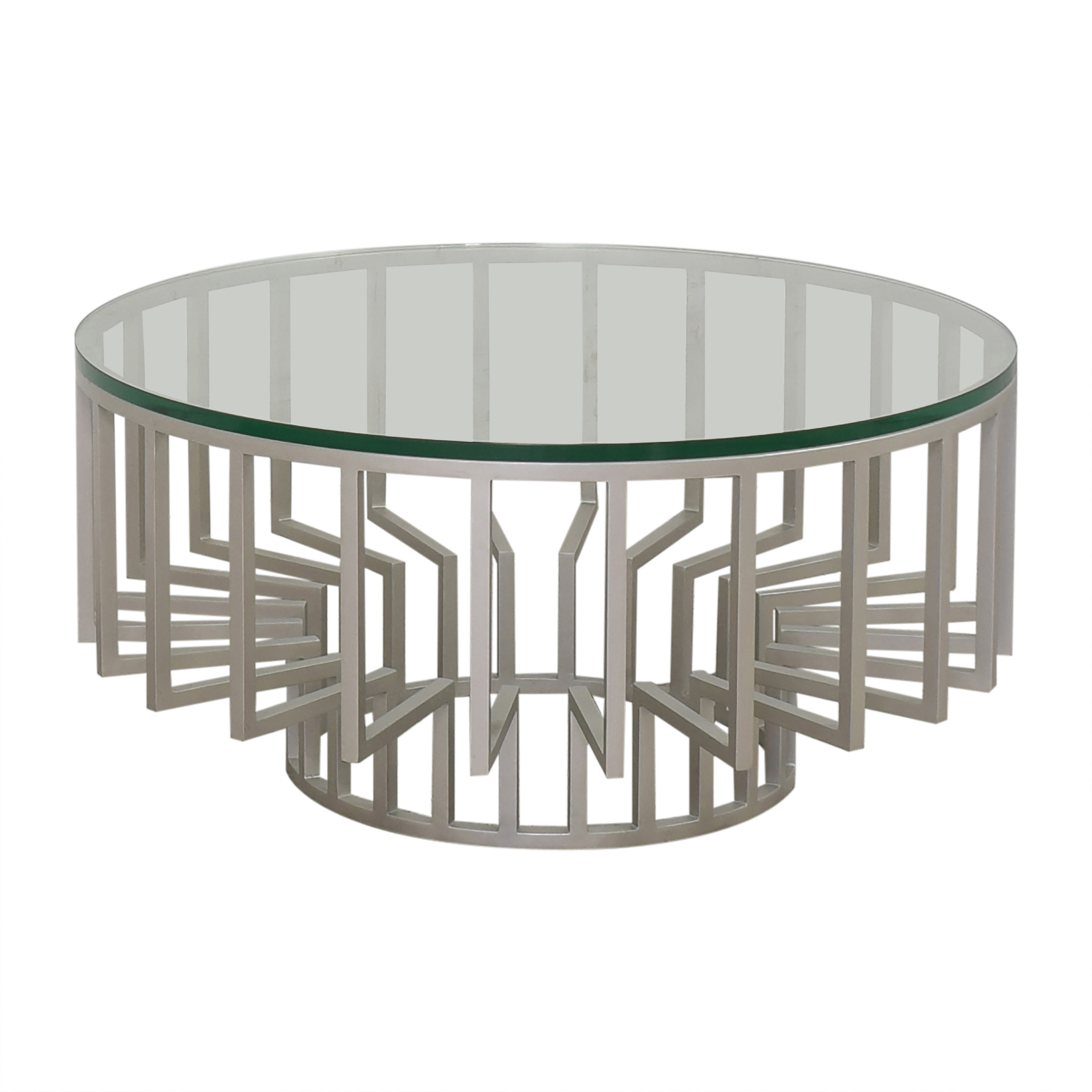 Round Translucent Coffee Table nyc