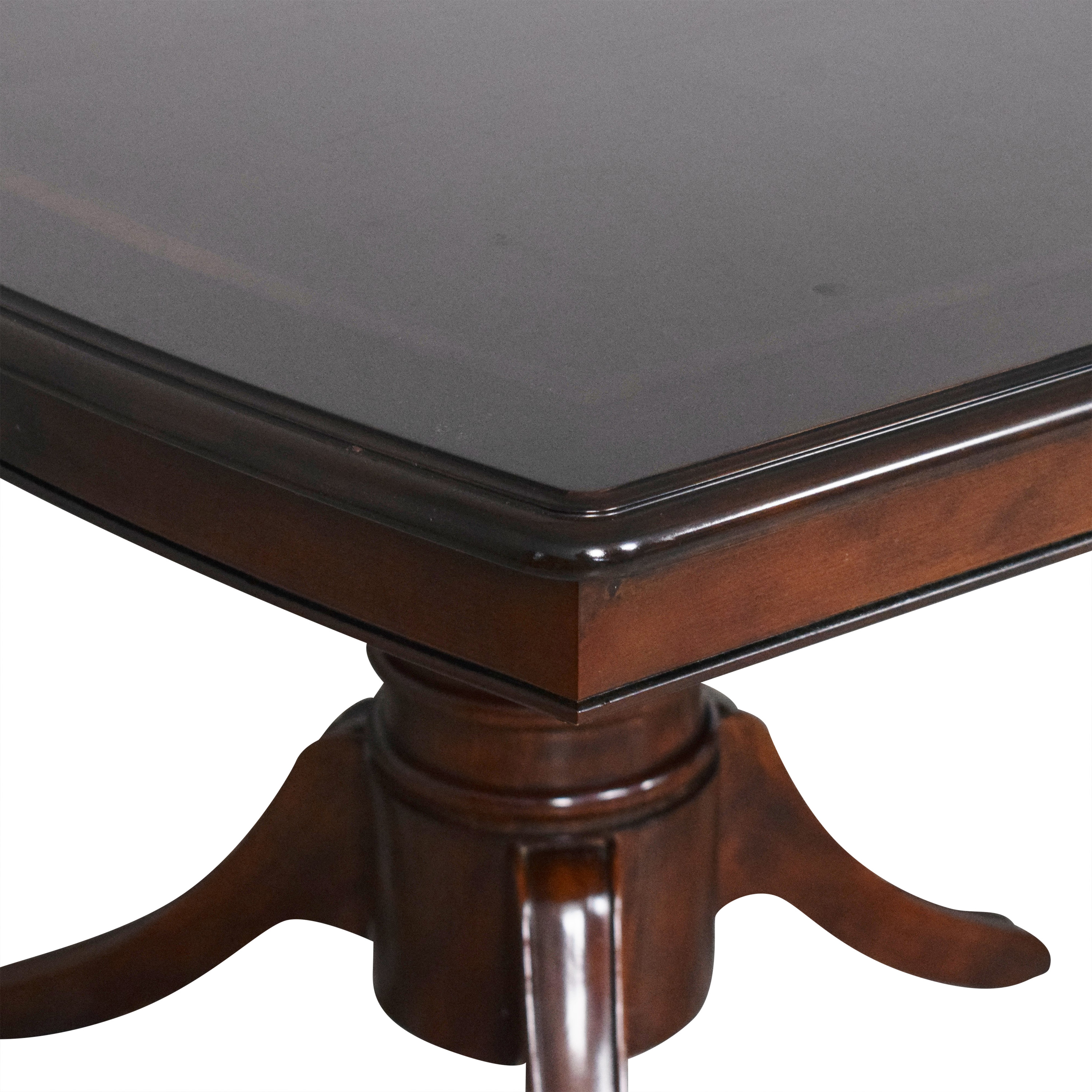 Raymour & Flanigan Raymour & Flanigan Extendable Dining Table dark brown