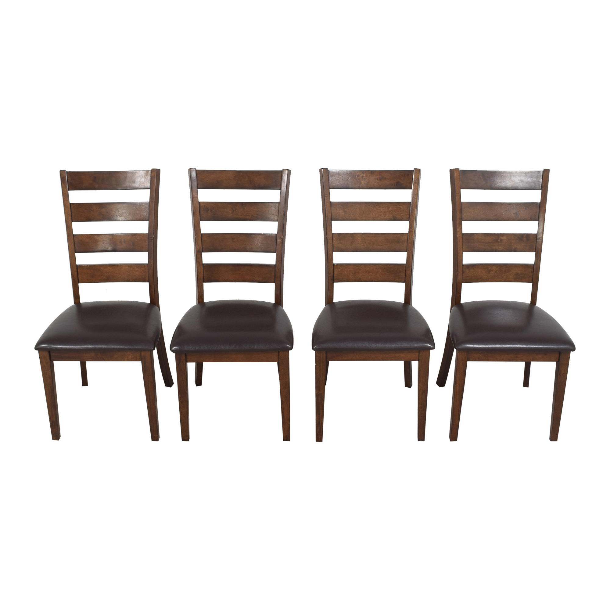 shop Raymour & Flanigan Ladder Back Dining Chairs Raymour & Flanigan