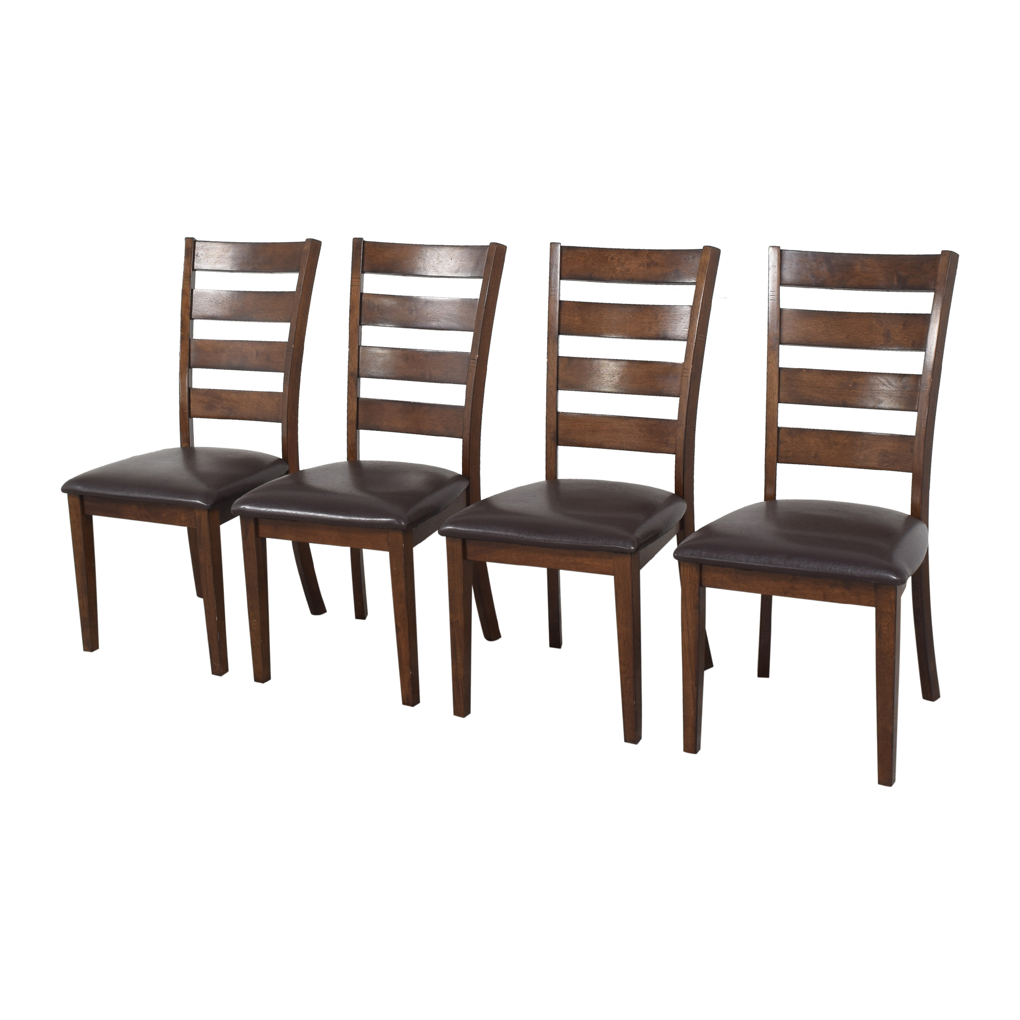 Raymour & Flanigan Raymour & Flanigan Ladder Back Dining Chairs ct