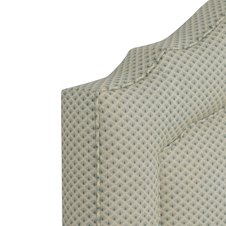 Upholstered Queen Headboard light green