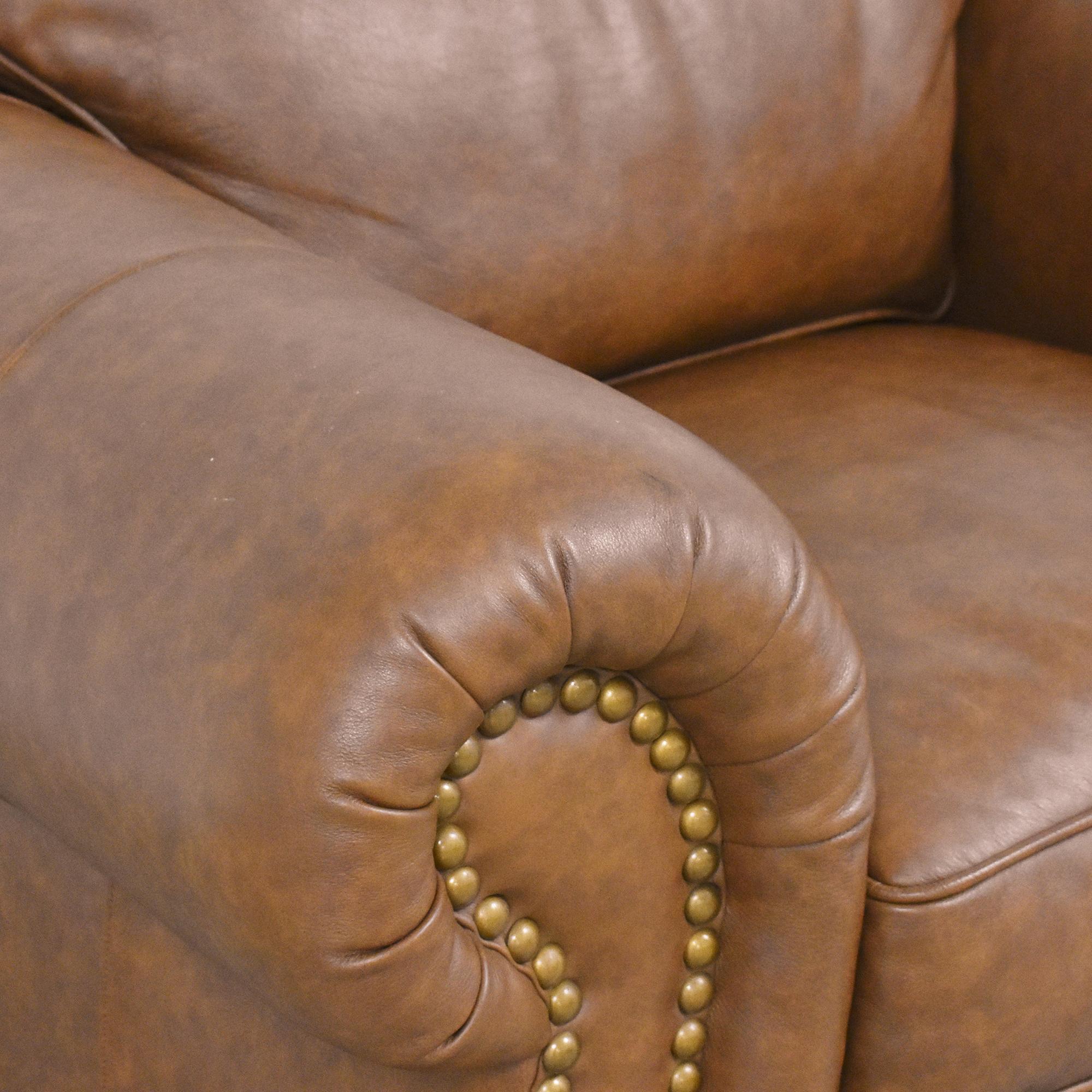 shop Thomasville Nailhead Club Chair with Ottoman Thomasville
