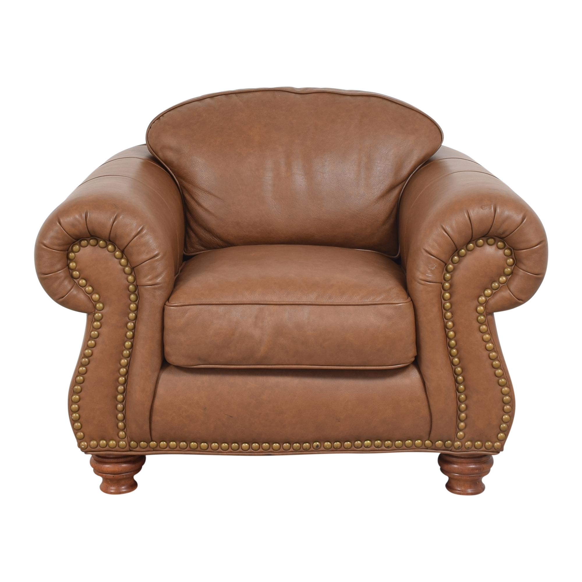 Thomasville Thomasville Nailhead Club Chair with Ottoman