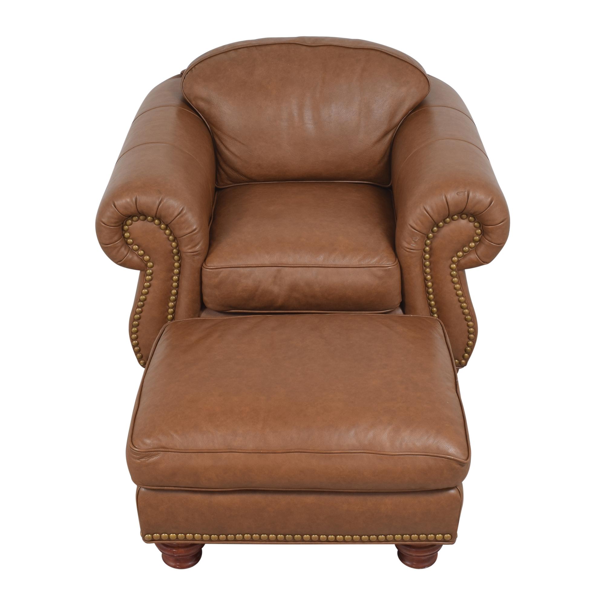 buy Thomasville Nailhead Club Chair with Ottoman Thomasville
