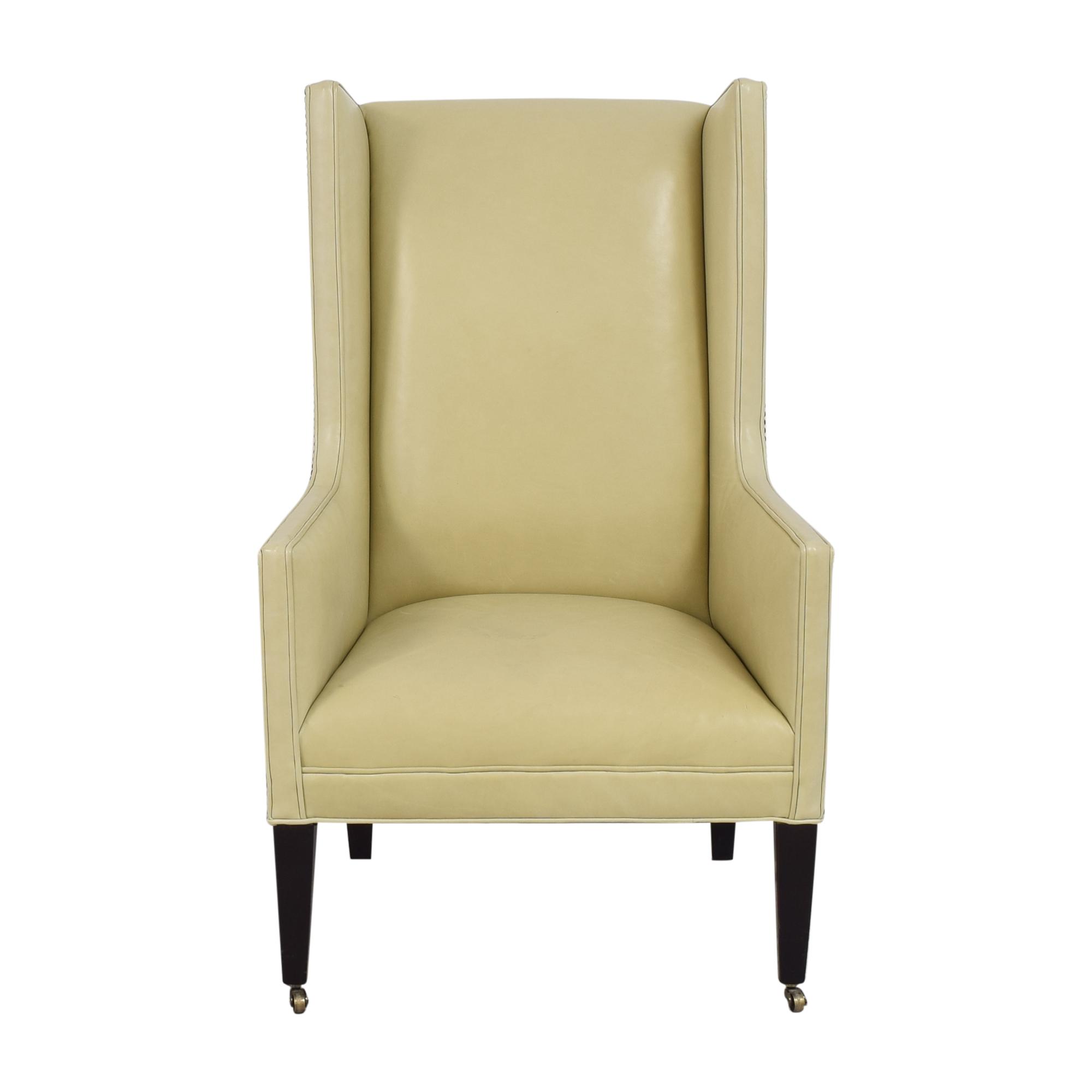 shop Crate & Barrel Wingback Chair Crate & Barrel