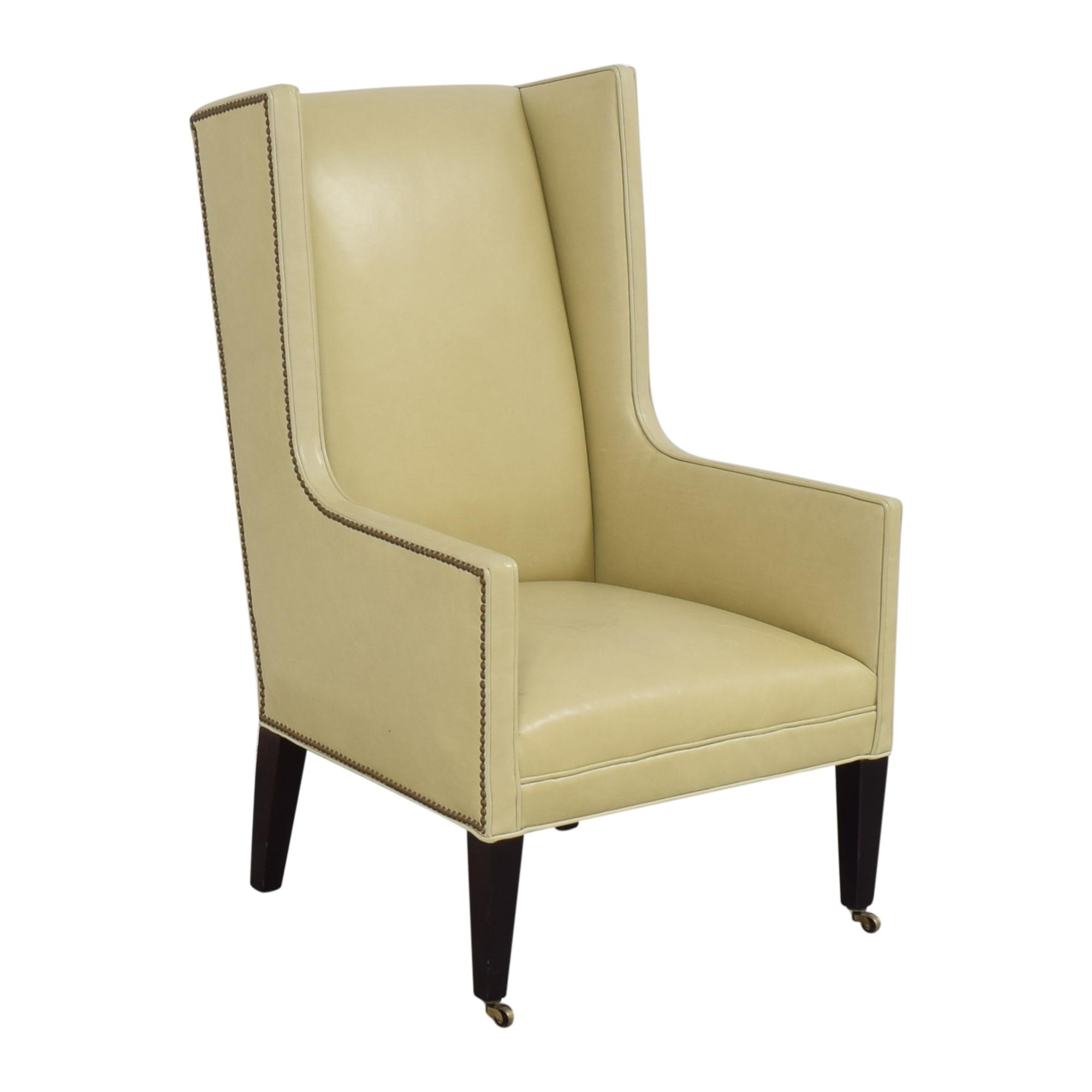 shop Crate & Barrel Wingback Chair Crate & Barrel Chairs