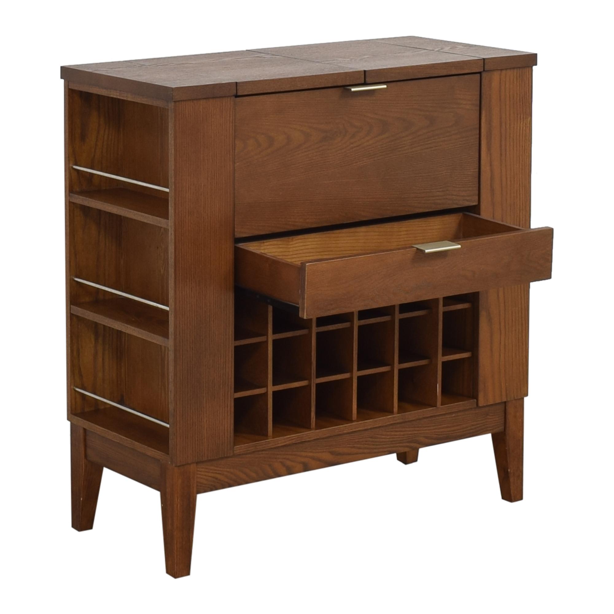 shop Crate & Barrel Parker Spirits Bourbon Cabinet Crate & Barrel Cabinets & Sideboards
