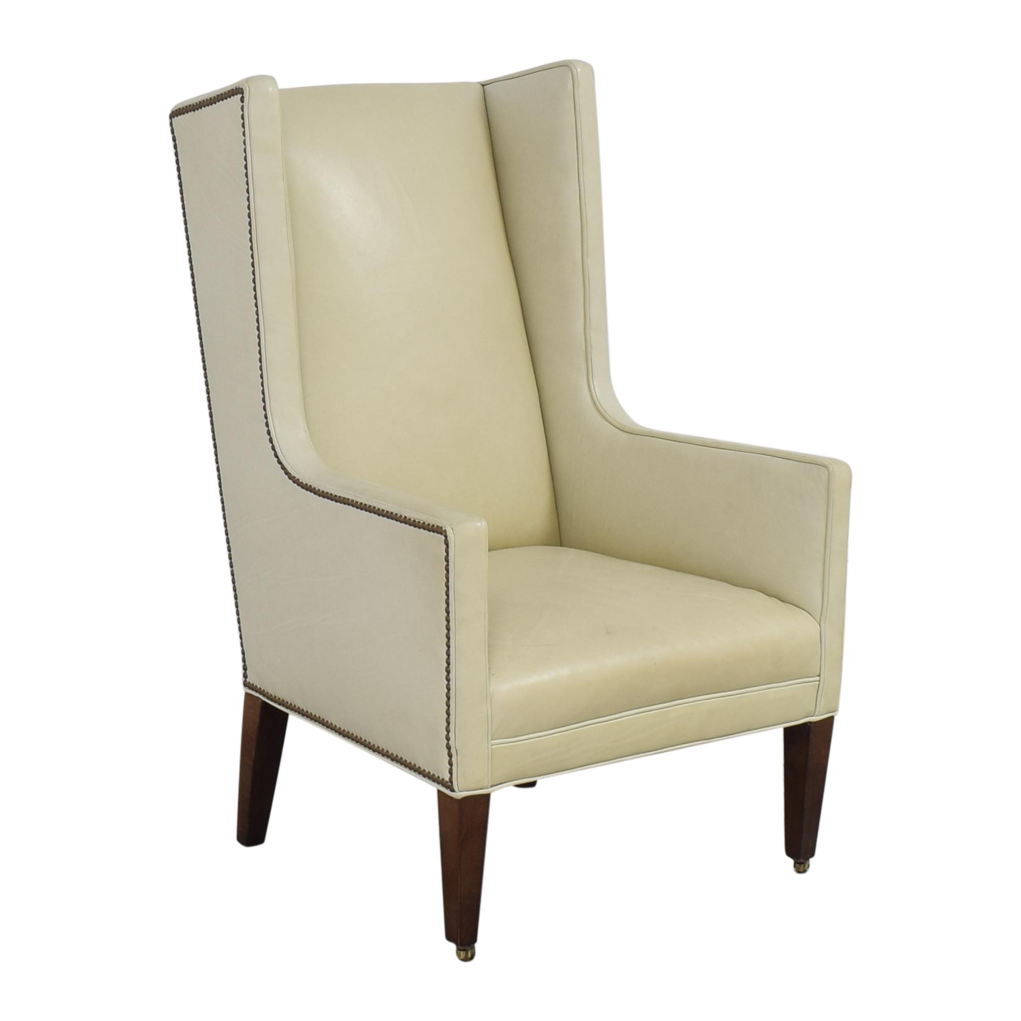 Crate & Barrel Wingback Chair Crate & Barrel
