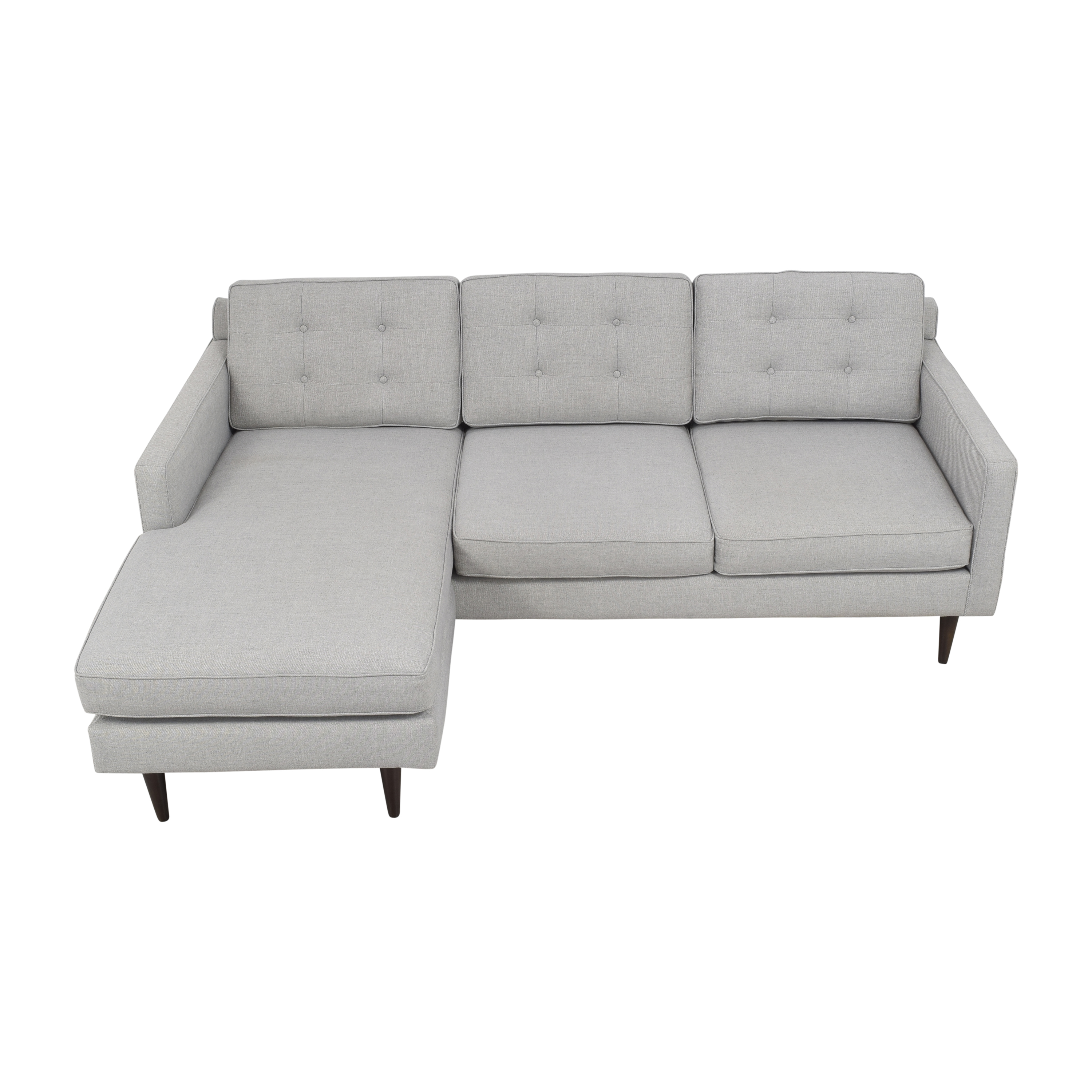 West Elm West Elm Drake Reversible Chaise Sectional Sofa pa