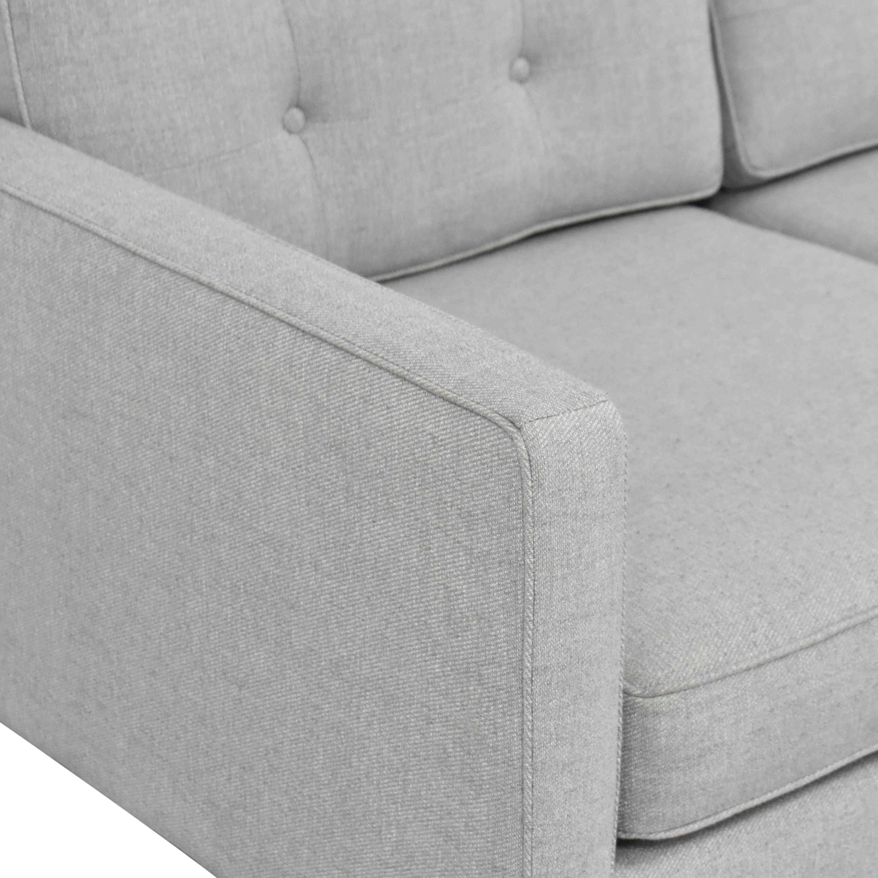 West Elm Drake Reversible Chaise Sectional Sofa sale