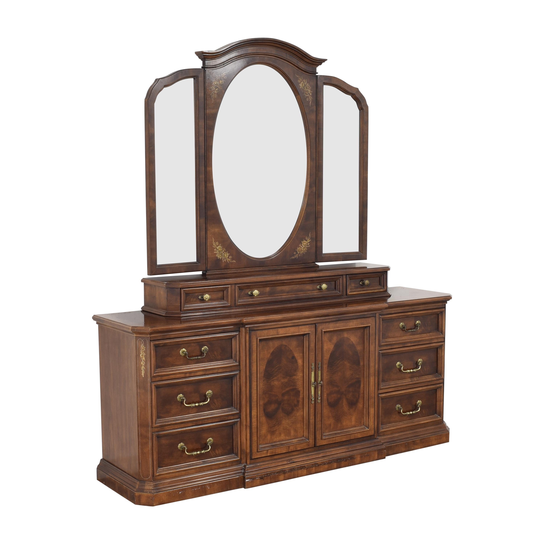 Bernhardt Dresser with Trifold Mirror Bernhardt