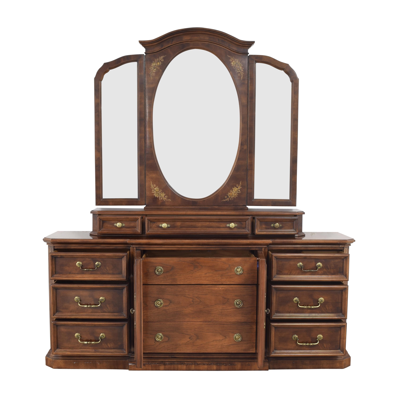Bernhardt Dresser with Trifold Mirror / Storage
