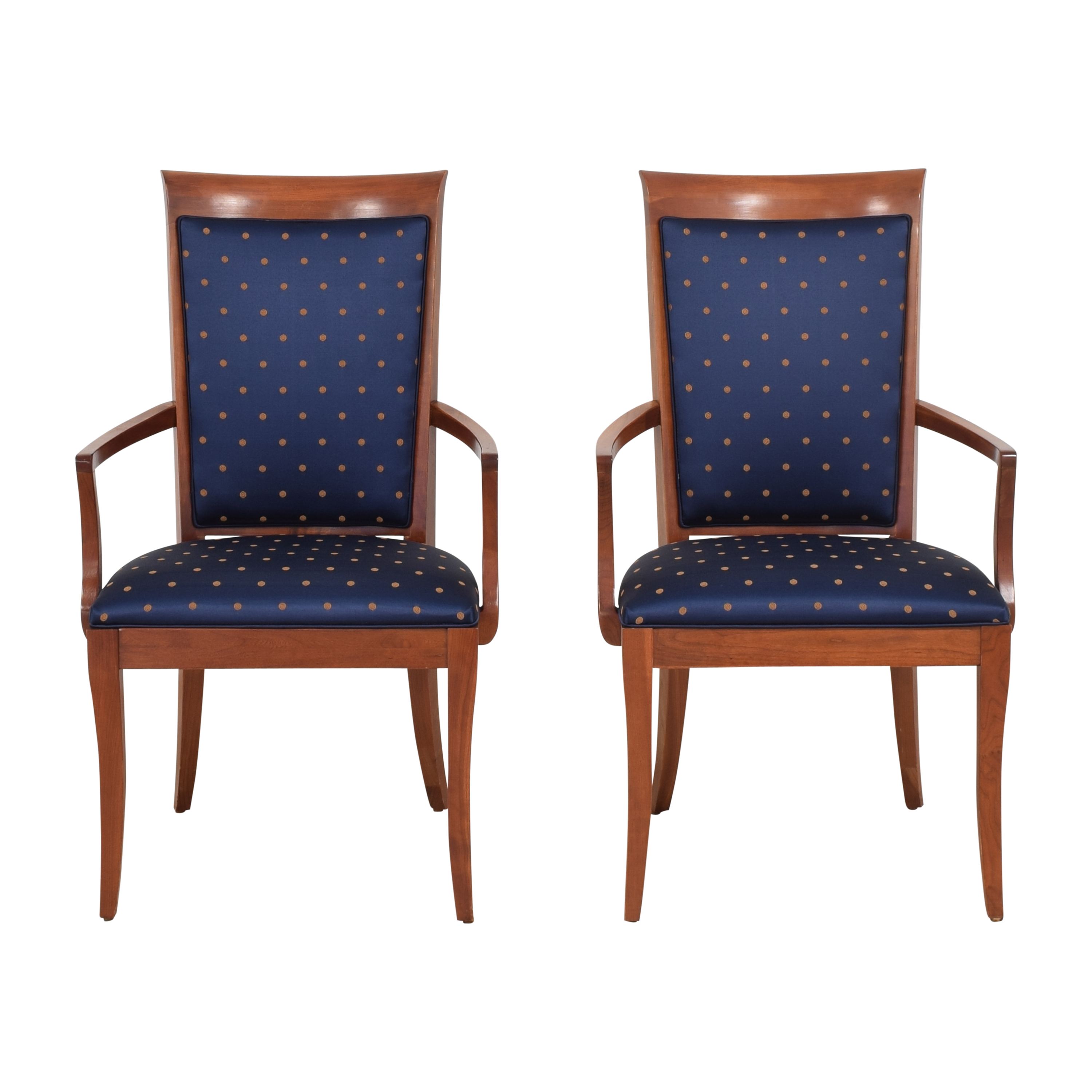 Ethan Allen Ethan Allen Medallion Dining Arm Chairs Dining Chairs