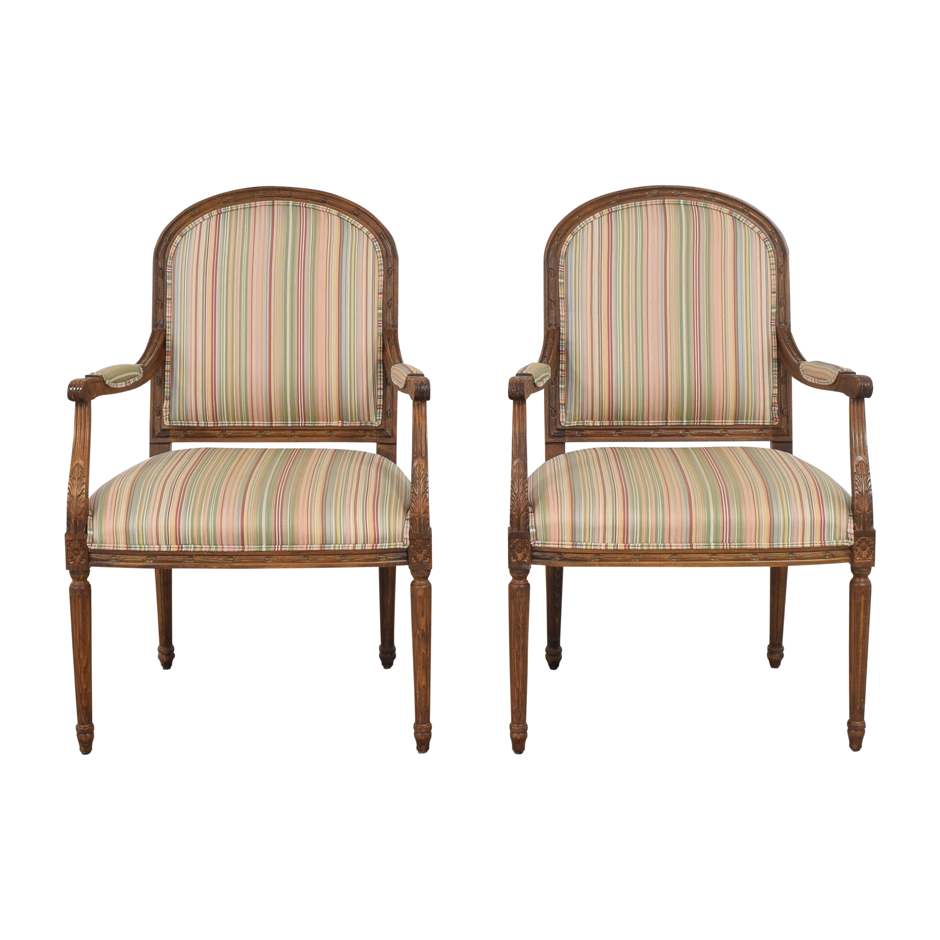 Ethan Allen Ethan Allen Louis XV-Style Arm Chairs ct