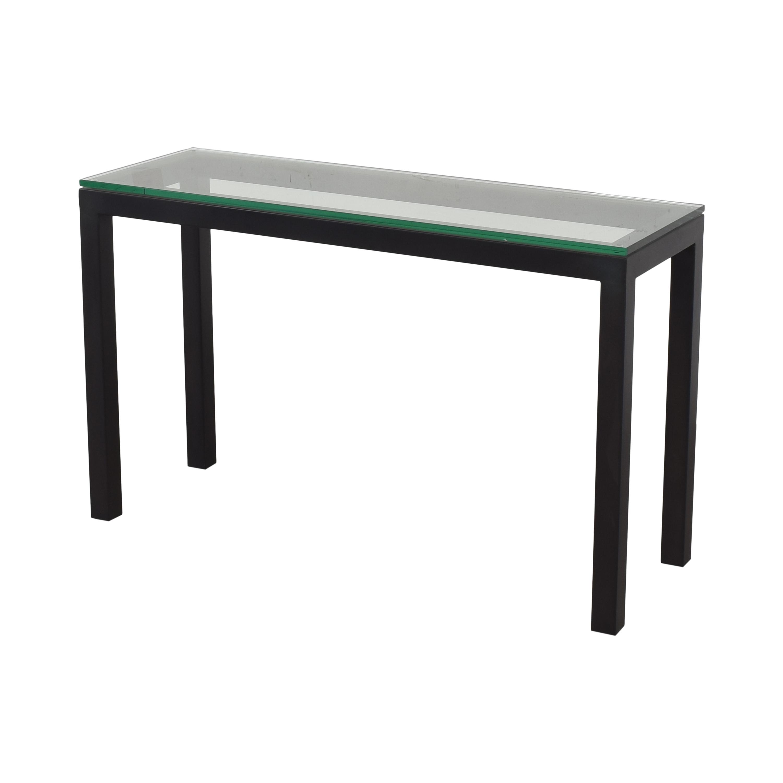 Crate & Barrel Crate & Barrel Parsons Console Table black