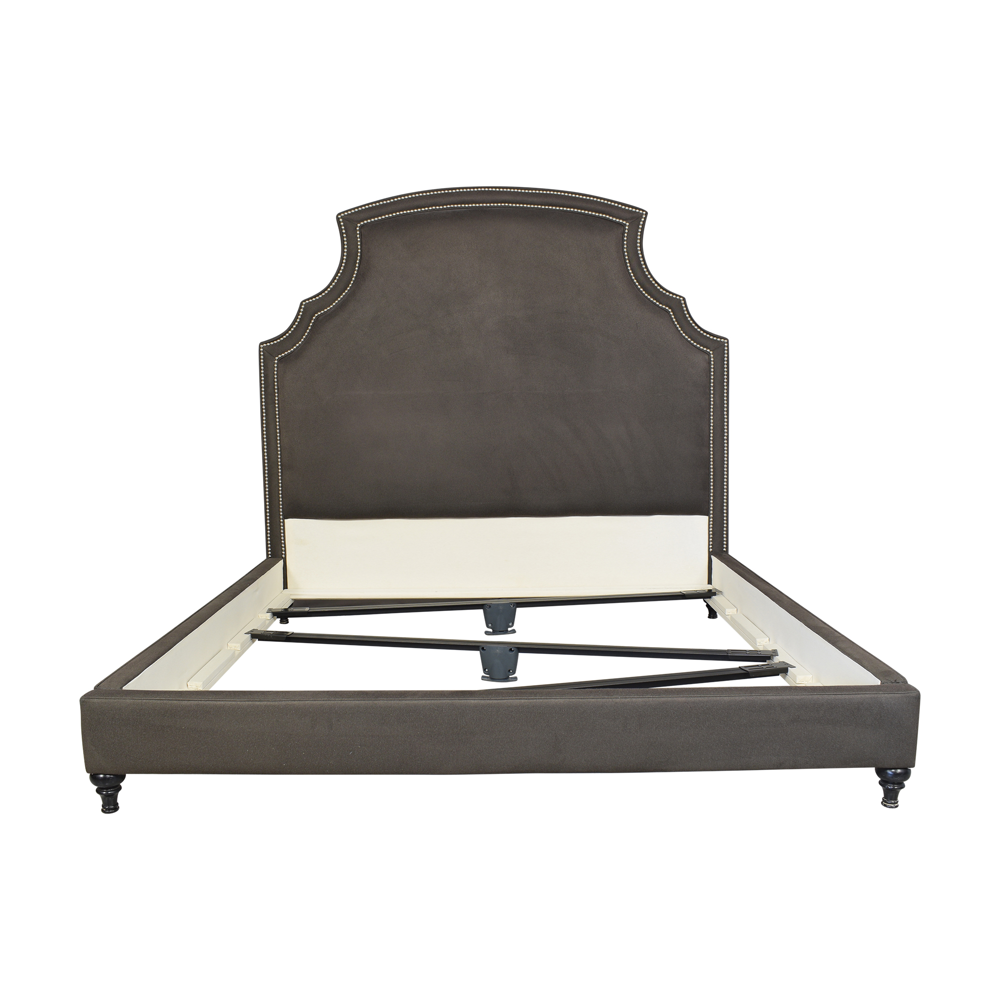 Upholstered King Bed with Nailhead Trim