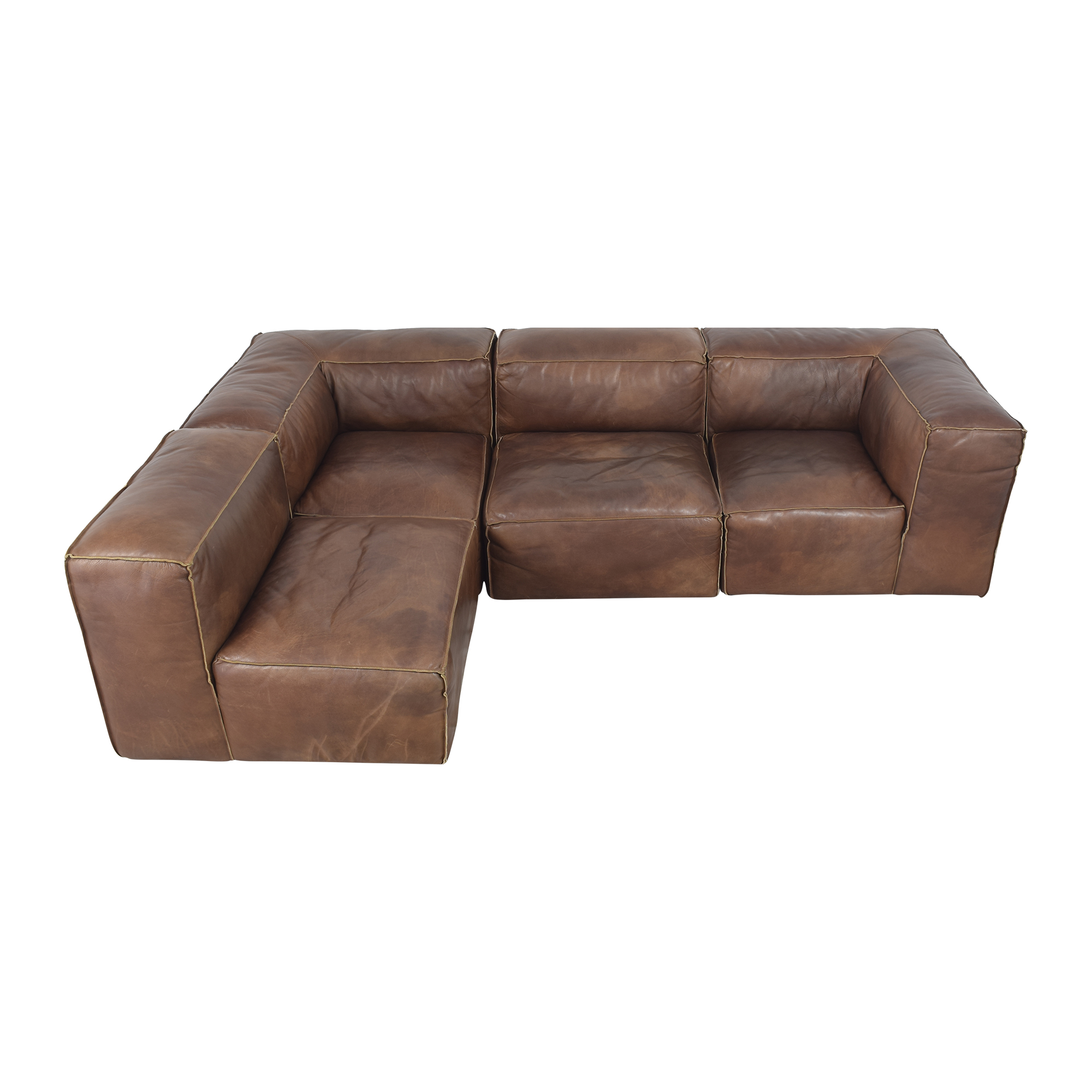 Restoration Hardware Restoration Hardware Fulham Sectional dimensions