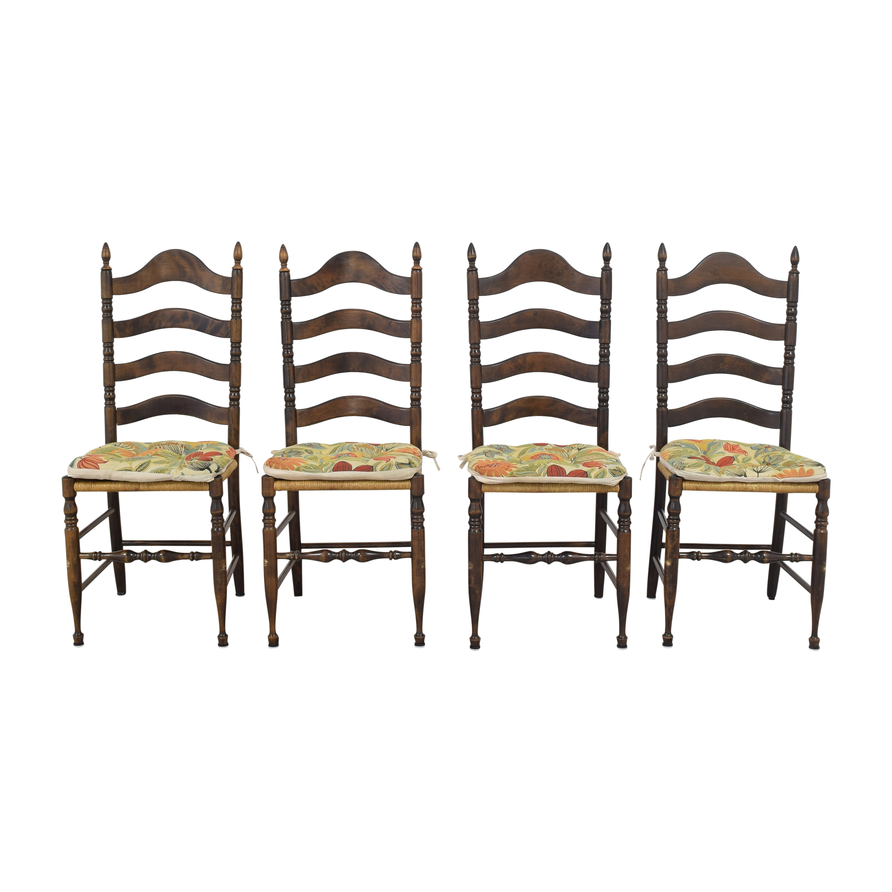 Ladderback Dining Chairs brown