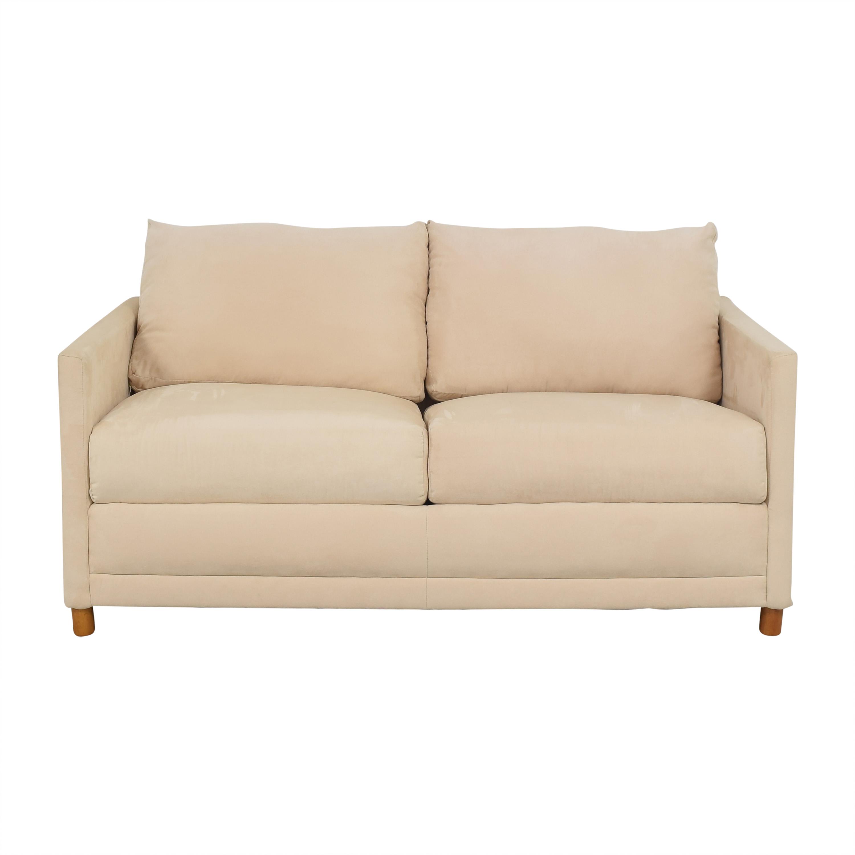 Two Cushion Sleeper Sofa cream