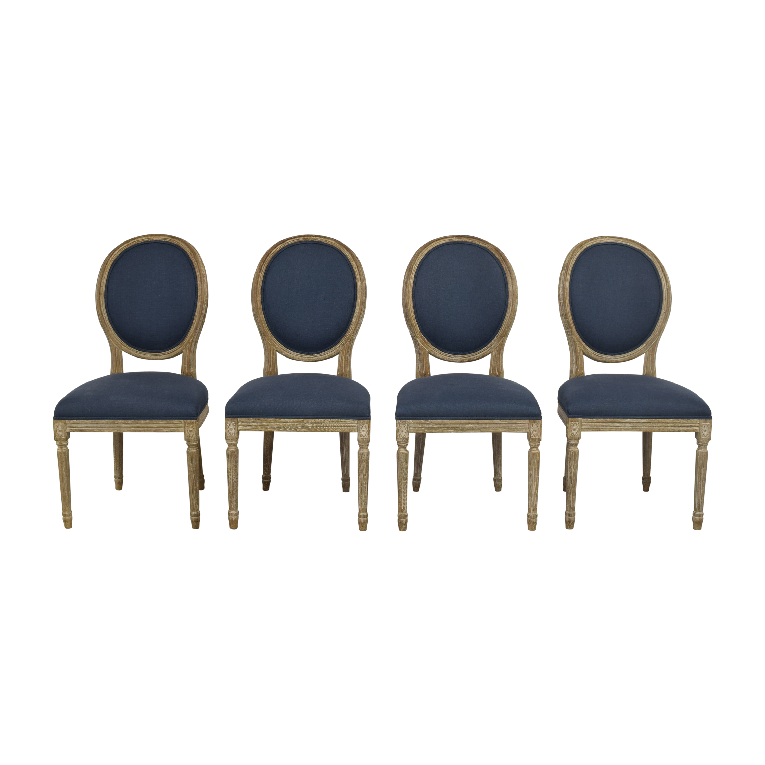 Restoration Hardware Restoration Hardware Vintage French Round Dining Chairs second hand
