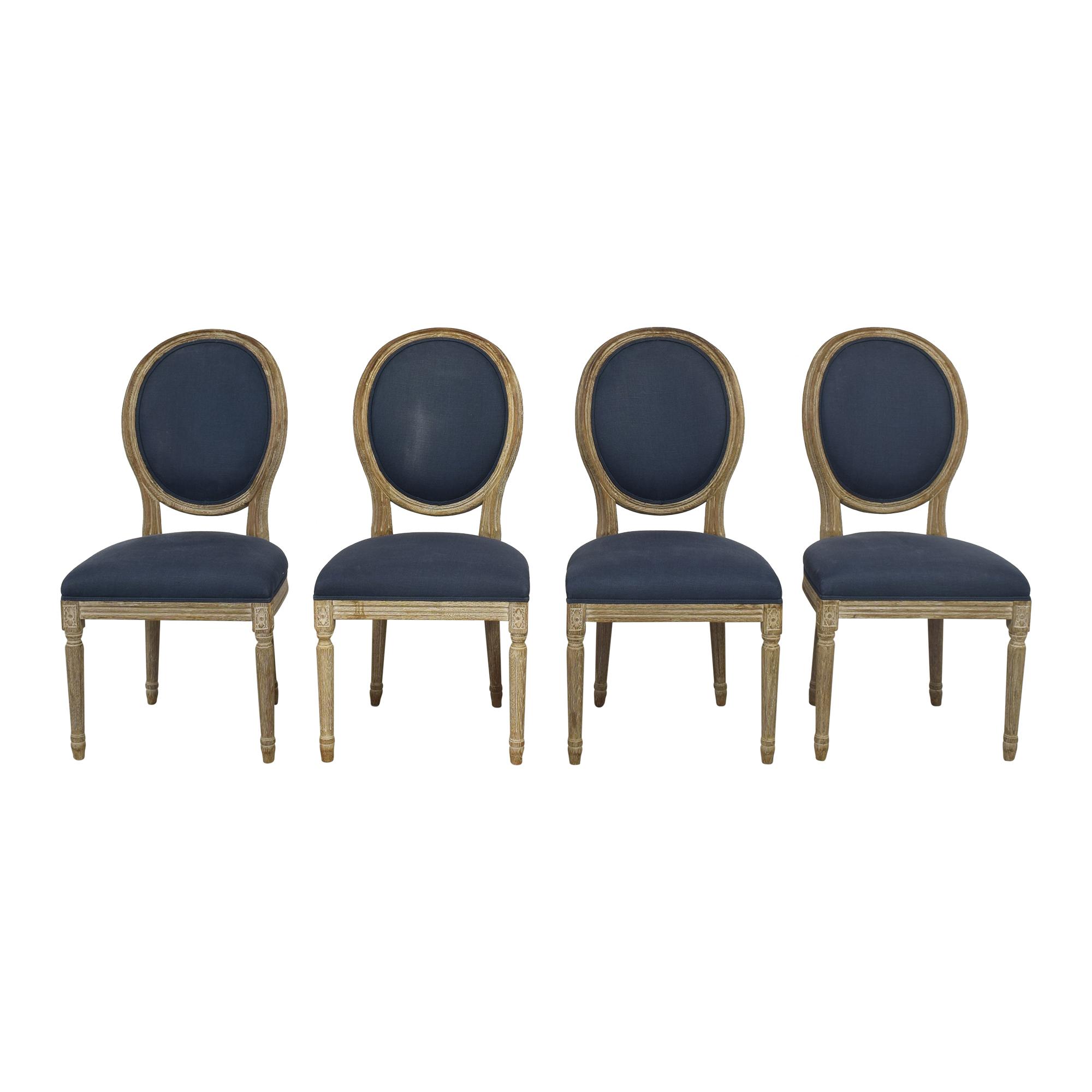 Restoration Hardware Vintage French Round Dining Chairs Restoration Hardware