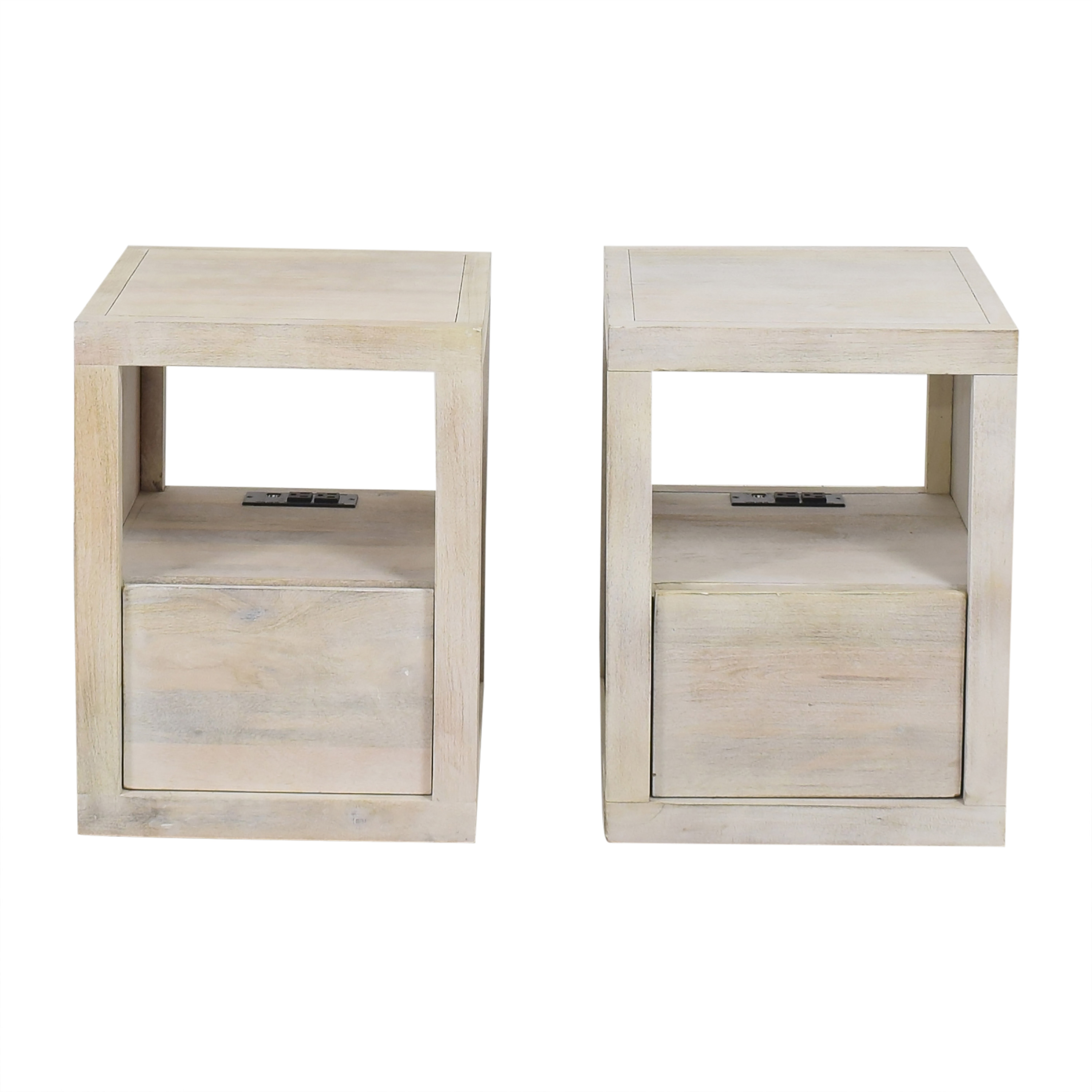 shop Pottery Barn Cayman Charging Nightstand  Pottery Barn End Tables