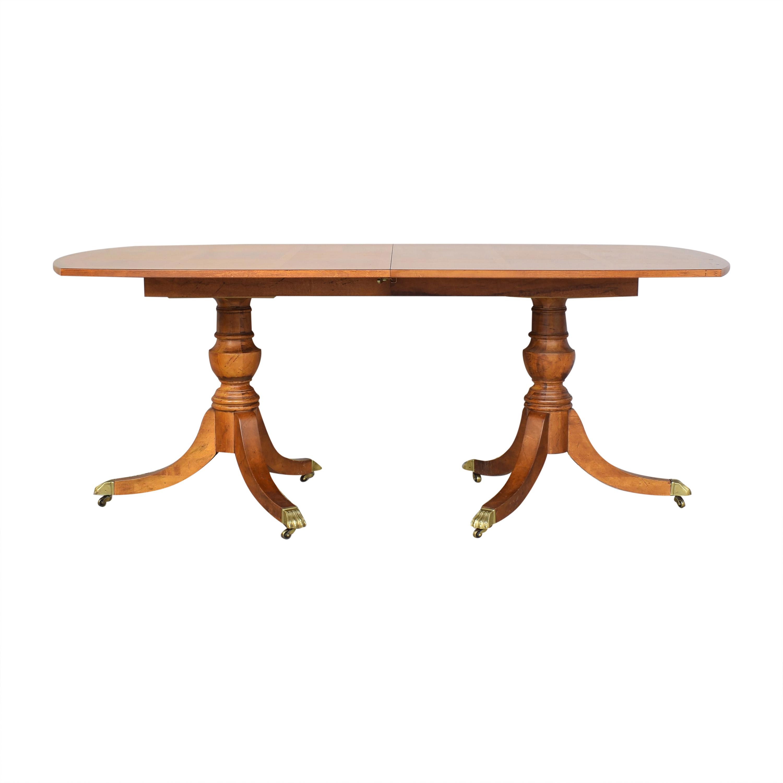 Century Furniture Century Furniture Double Pedestal Dining Table