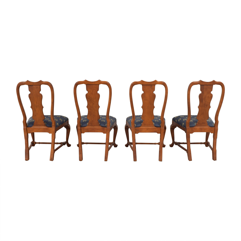 buy Century Furniture Fiddleback Dining Side Chairs  Century Furniture Dining Chairs