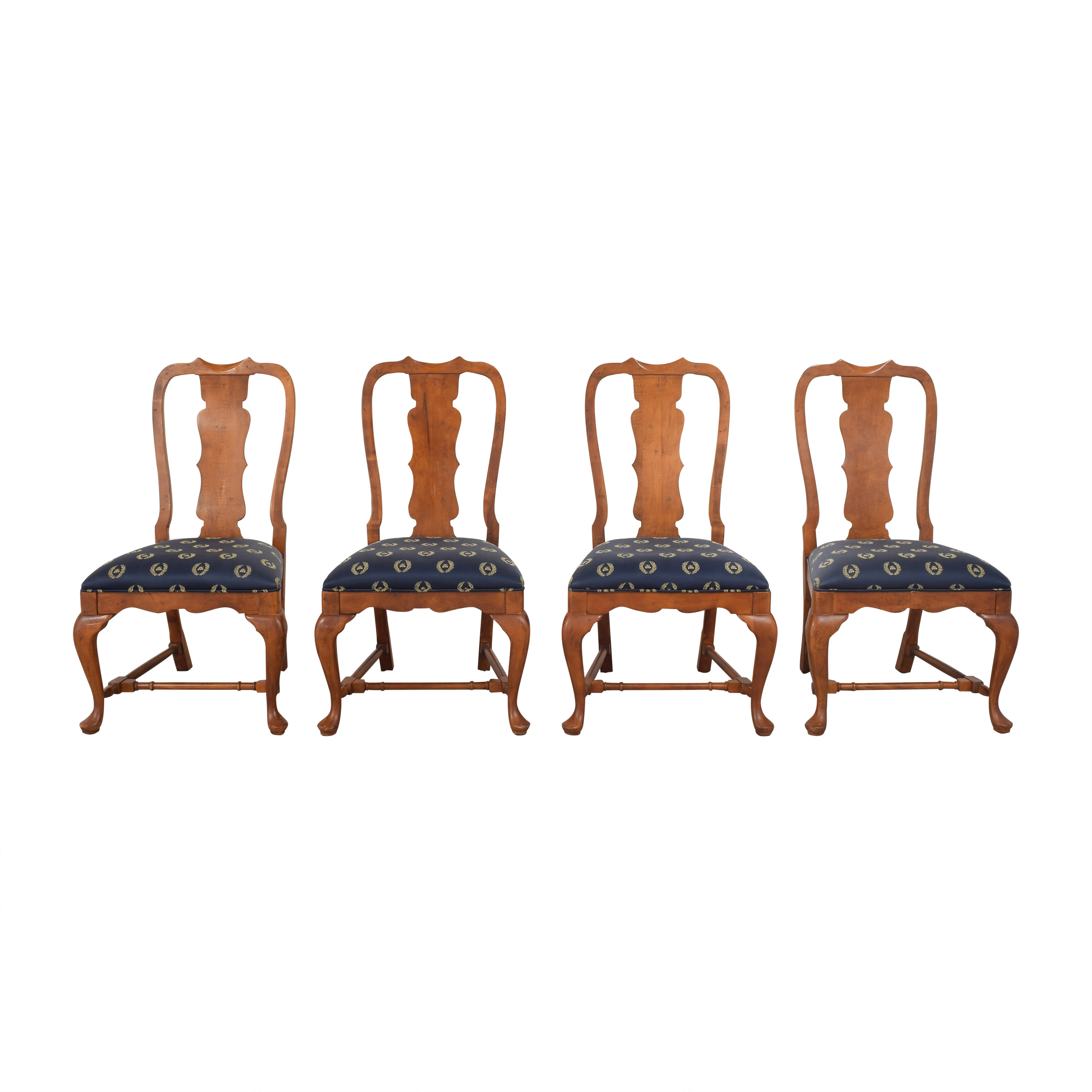 Century Furniture Fiddleback Dining Side Chairs  / Dining Chairs