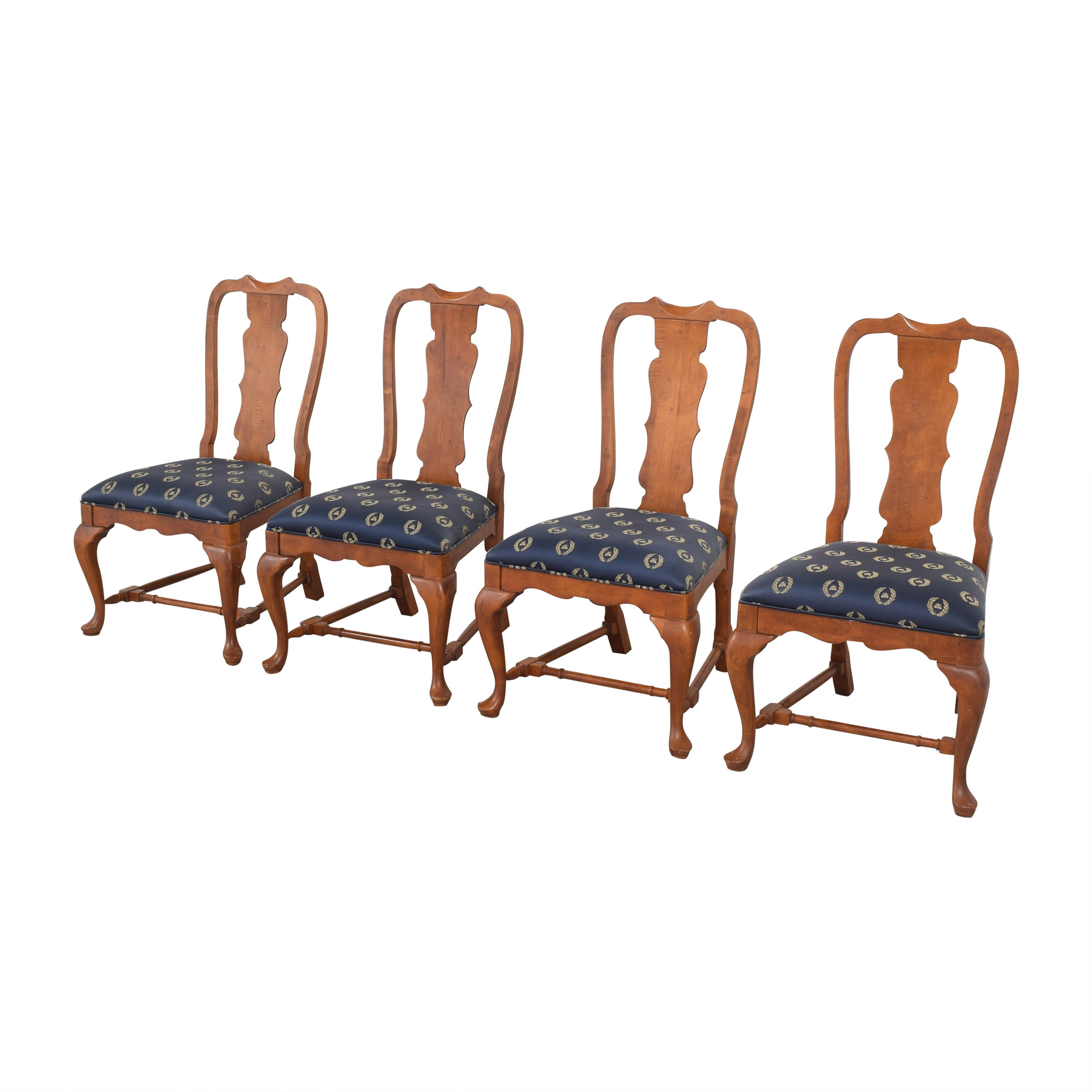 Century Furniture Century Furniture Fiddleback Dining Side Chairs