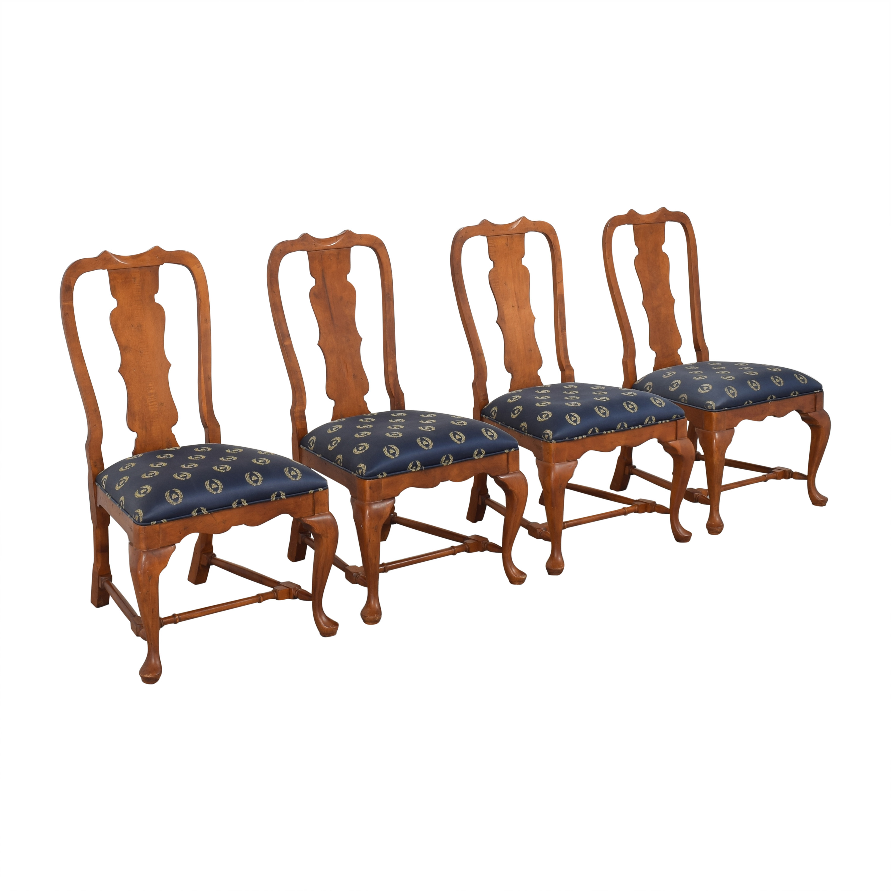 shop Century Furniture Fiddleback Dining Side Chairs  Century Furniture