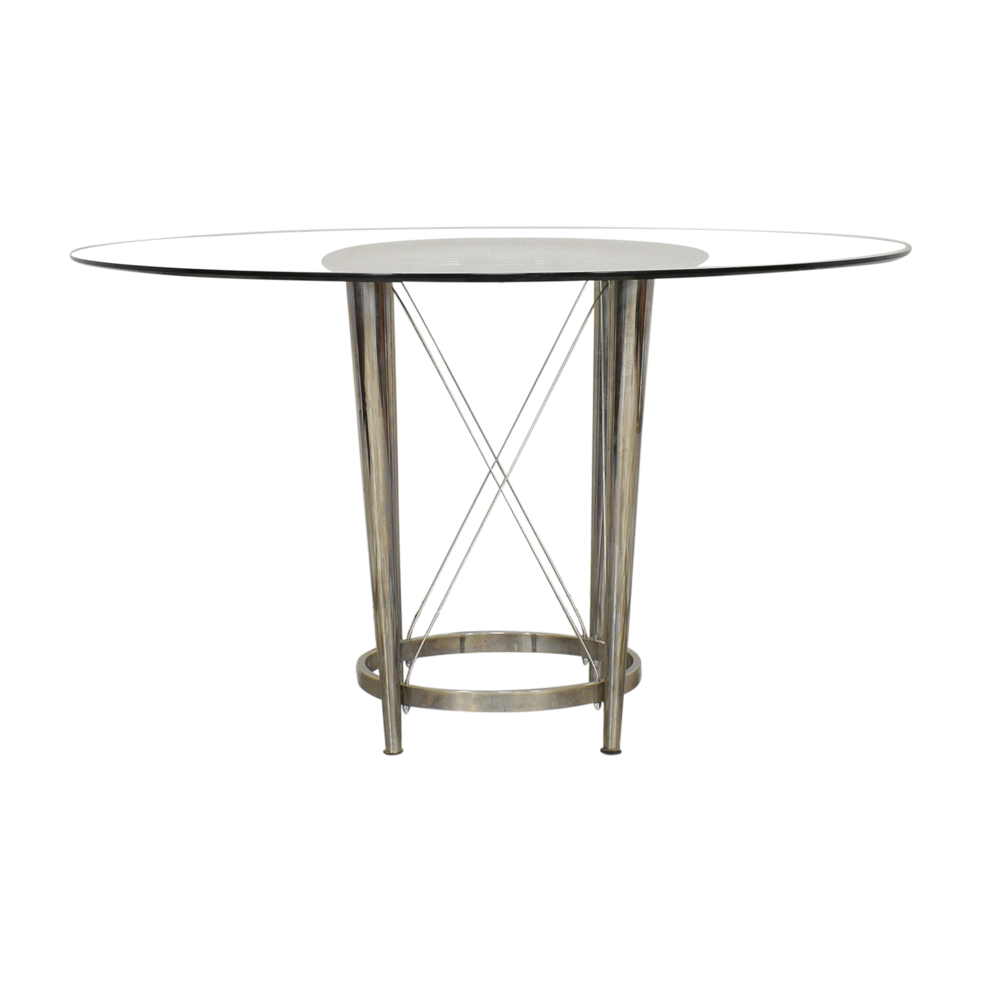 Modern Pedestal Dining Table for sale