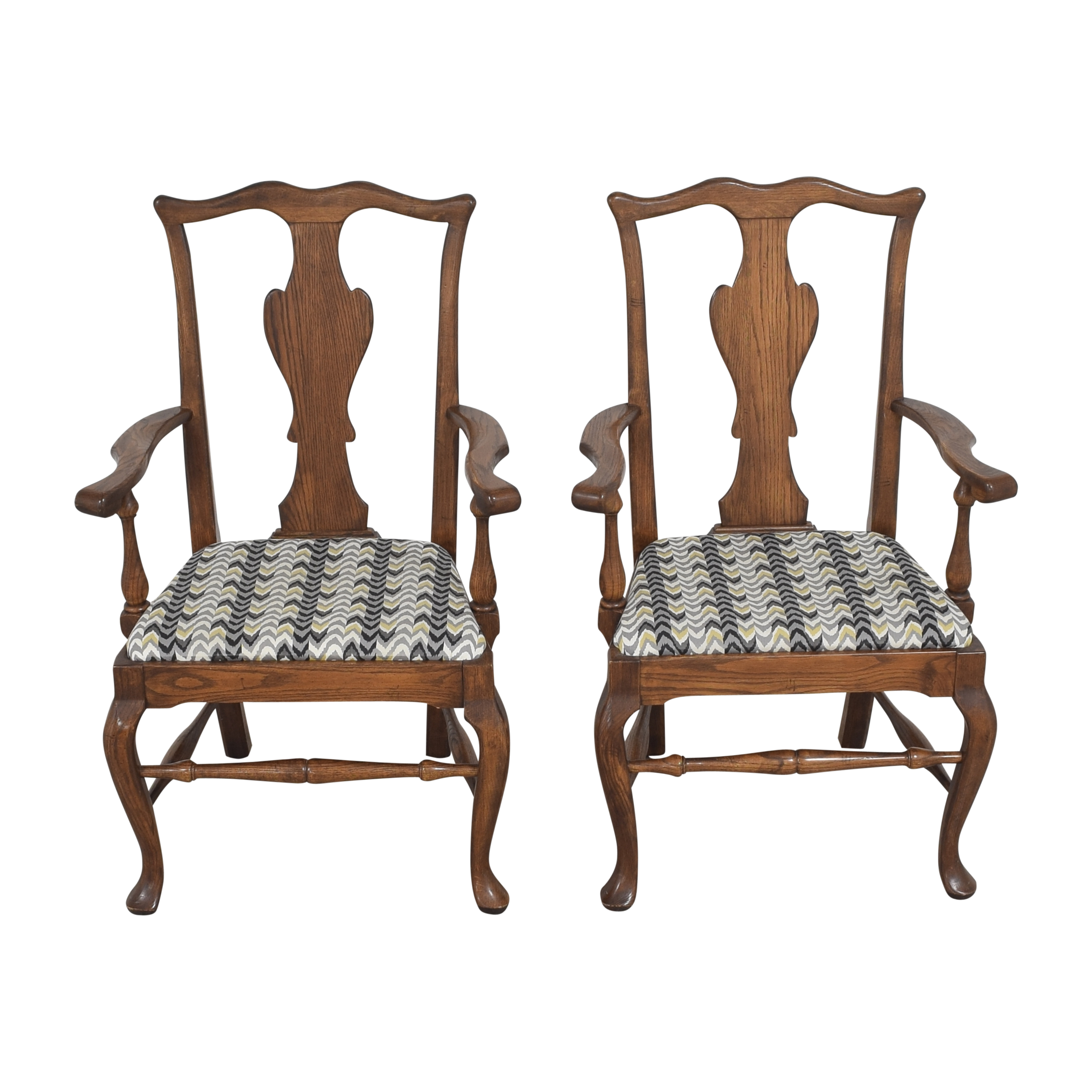 Ethan Allen Ethan Allen Queen Anne Dining Arm Chairs coupon
