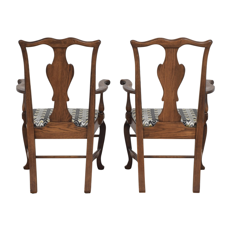 Ethan Allen Ethan Allen Queen Anne Dining Arm Chairs pa