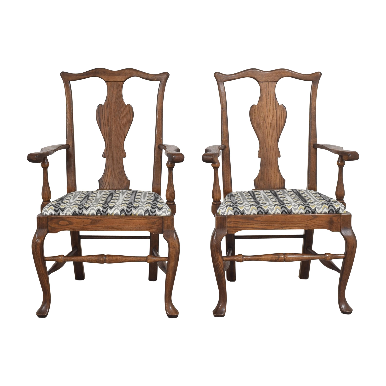 shop Ethan Allen Queen Anne Dining Arm Chairs Ethan Allen