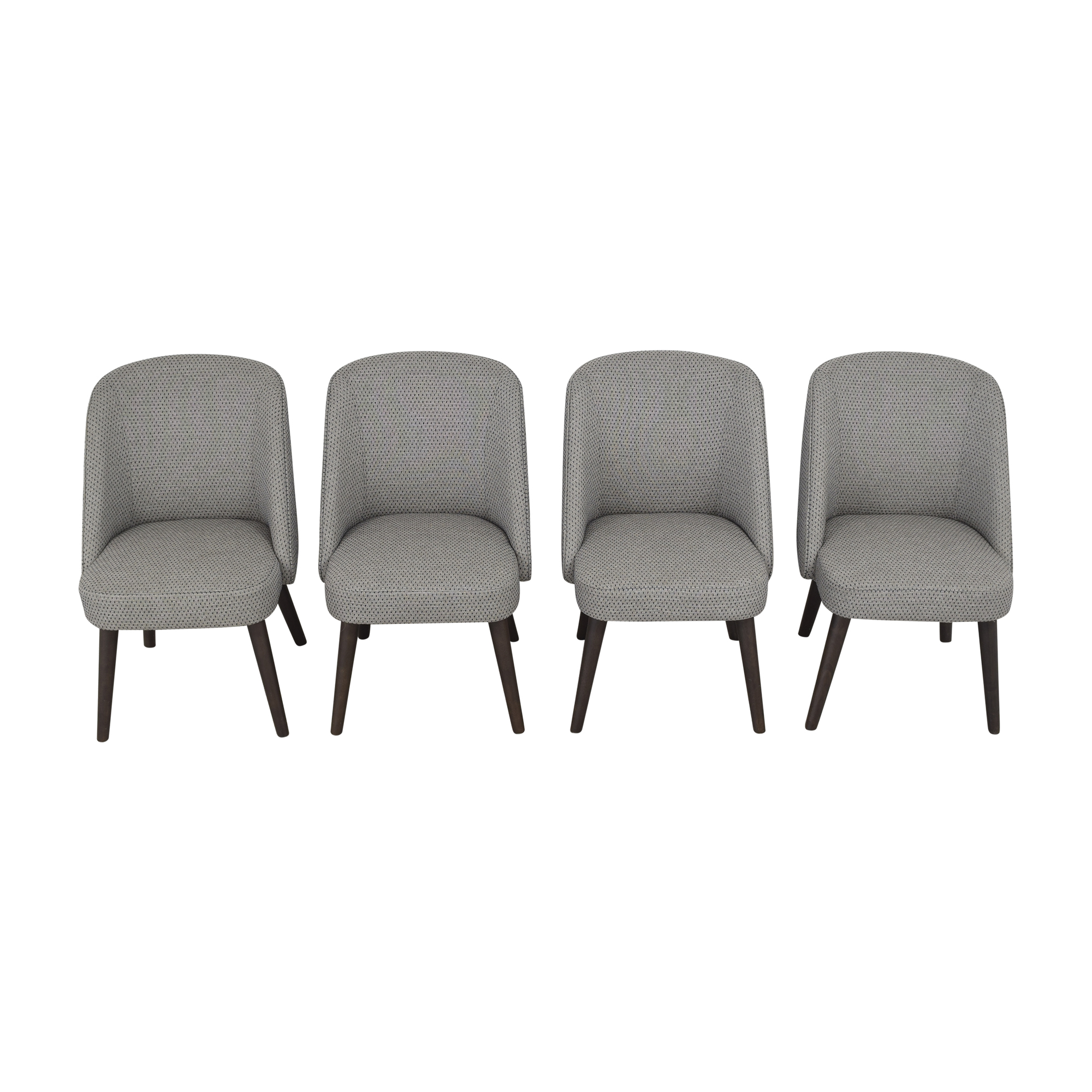 Room & Board Room & Board Cora Dining Chairs gray and blue