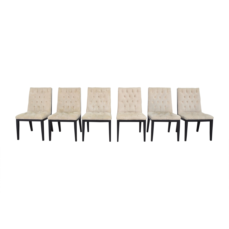 Arhaus Arhaus Tufted Dining Chairs pa