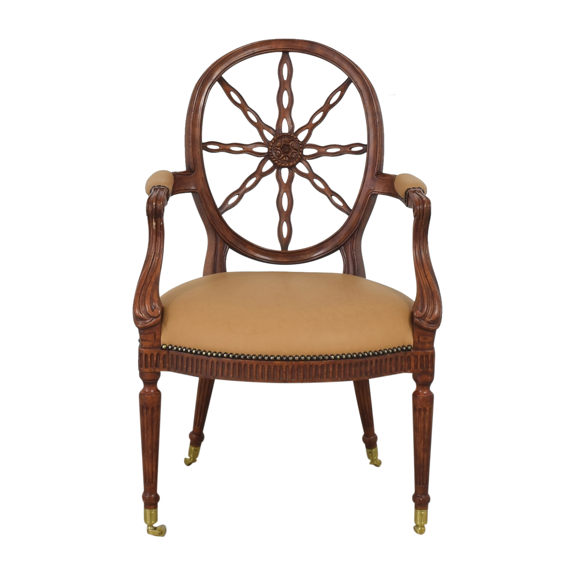 Maitland-Smith Maitland-Smith Sheraton-Style Wheel Back Arm Chair dimensions