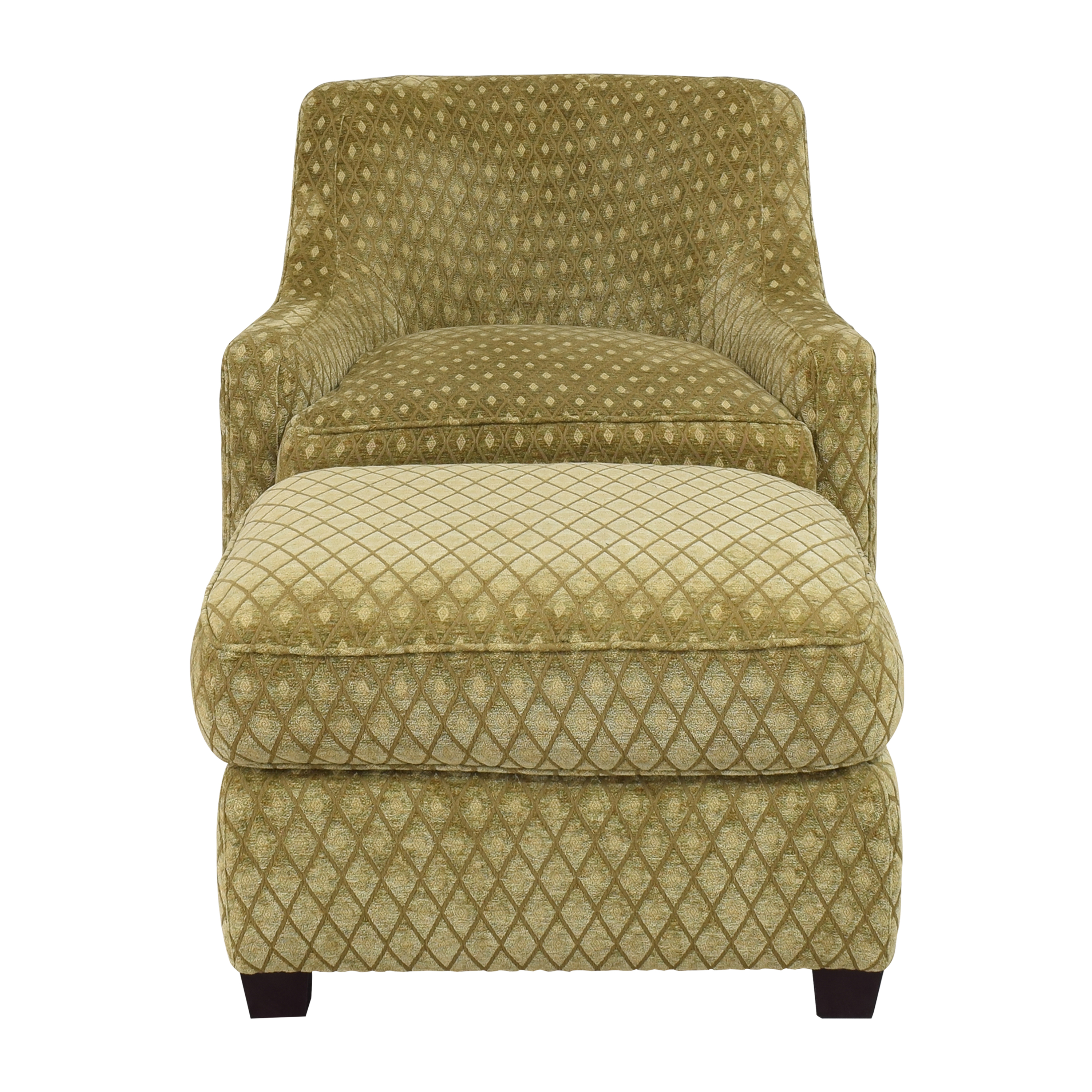 Baker Furniture Baker Furniture Accent Chair with Ottoman dimensions