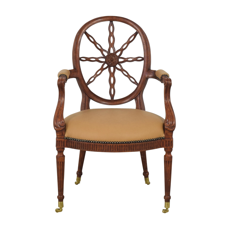 Maitland-Smith Maitland-Smith Sheraton-Style Wheel Back Arm Chair nj