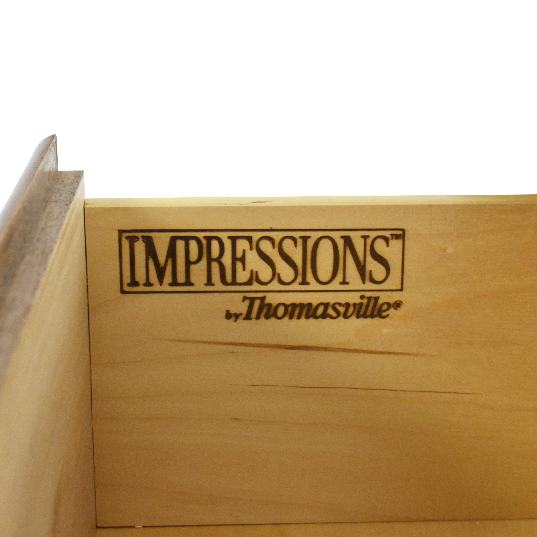 Thomasville Thomasville Impressions Triple Dresser with Mirror brown