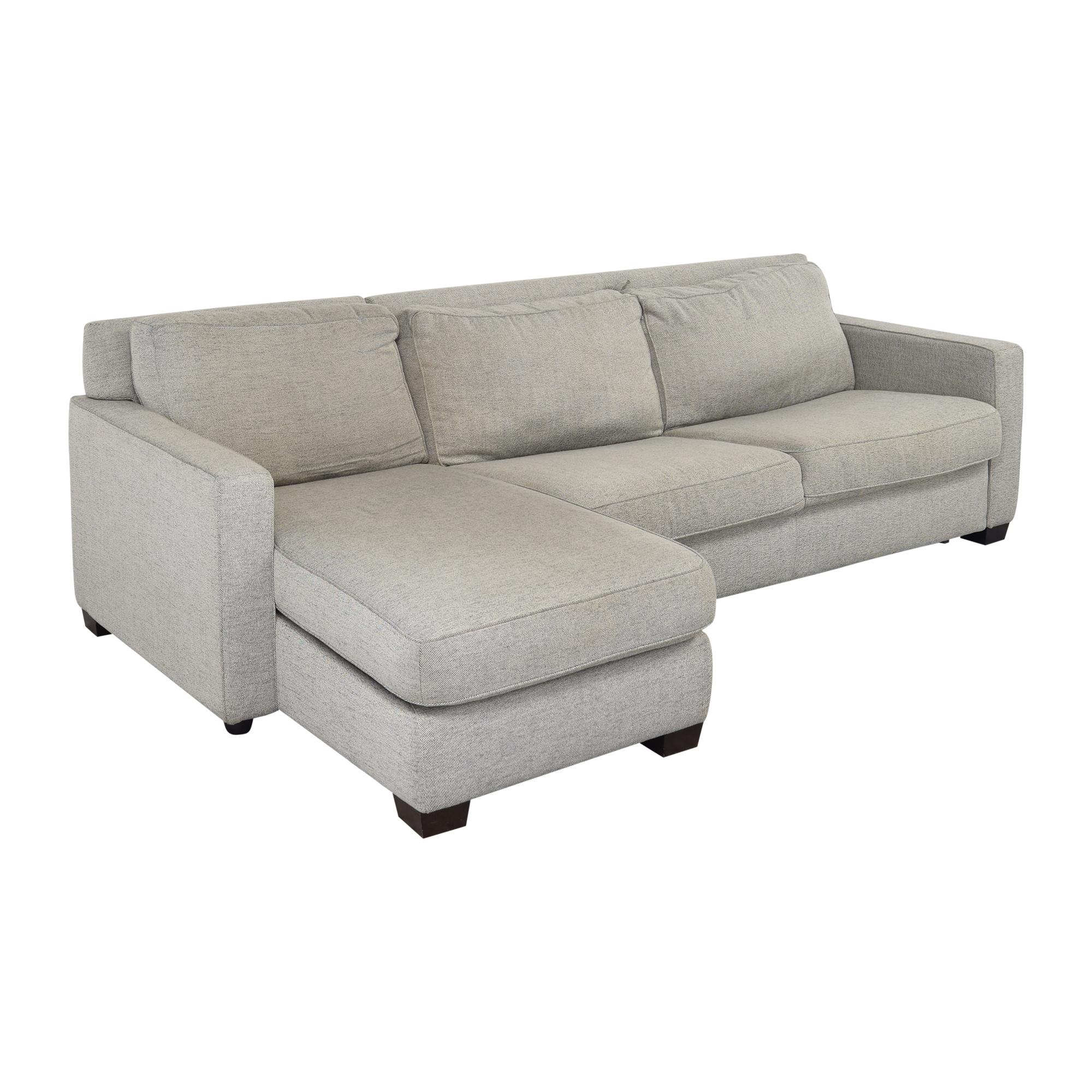 buy West Elm West Elm Henry 2 Piece Full Sleeper Storage Sofa online