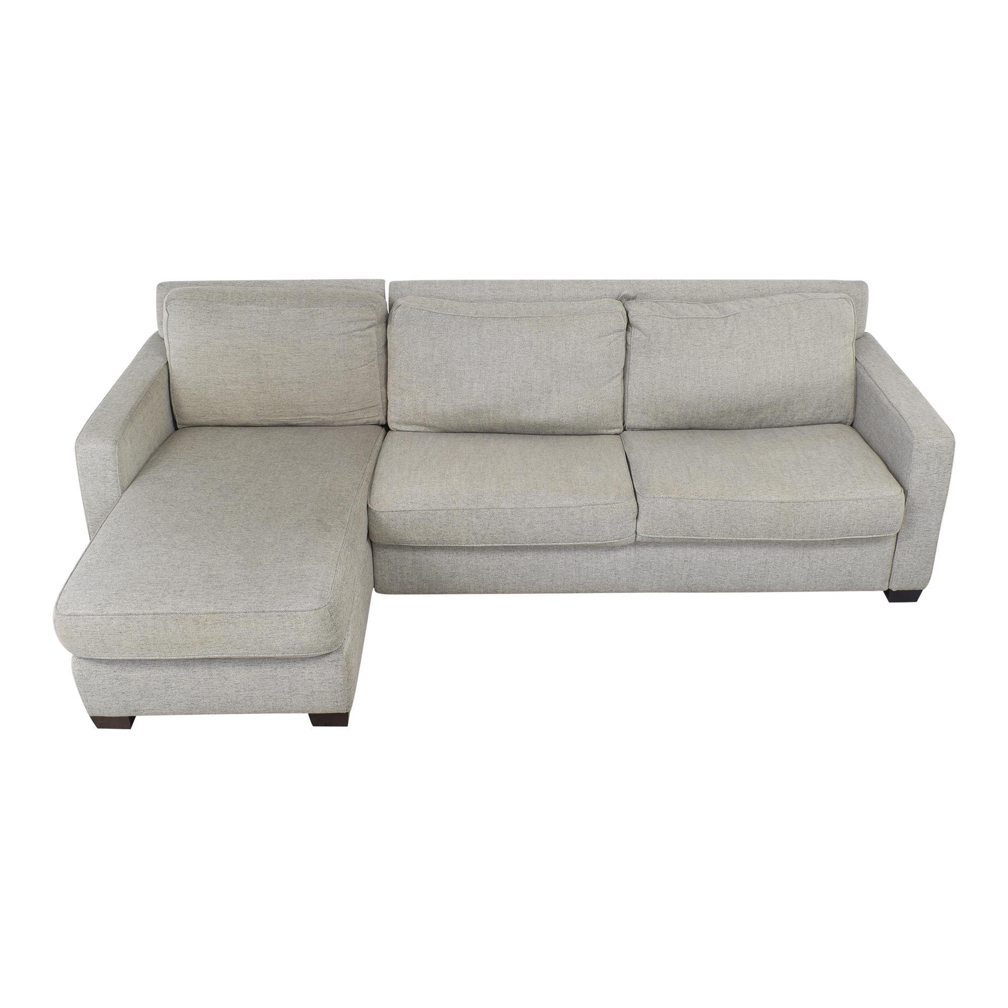 West Elm West Elm Henry 2 Piece Full Sleeper Storage Sofa Sectionals