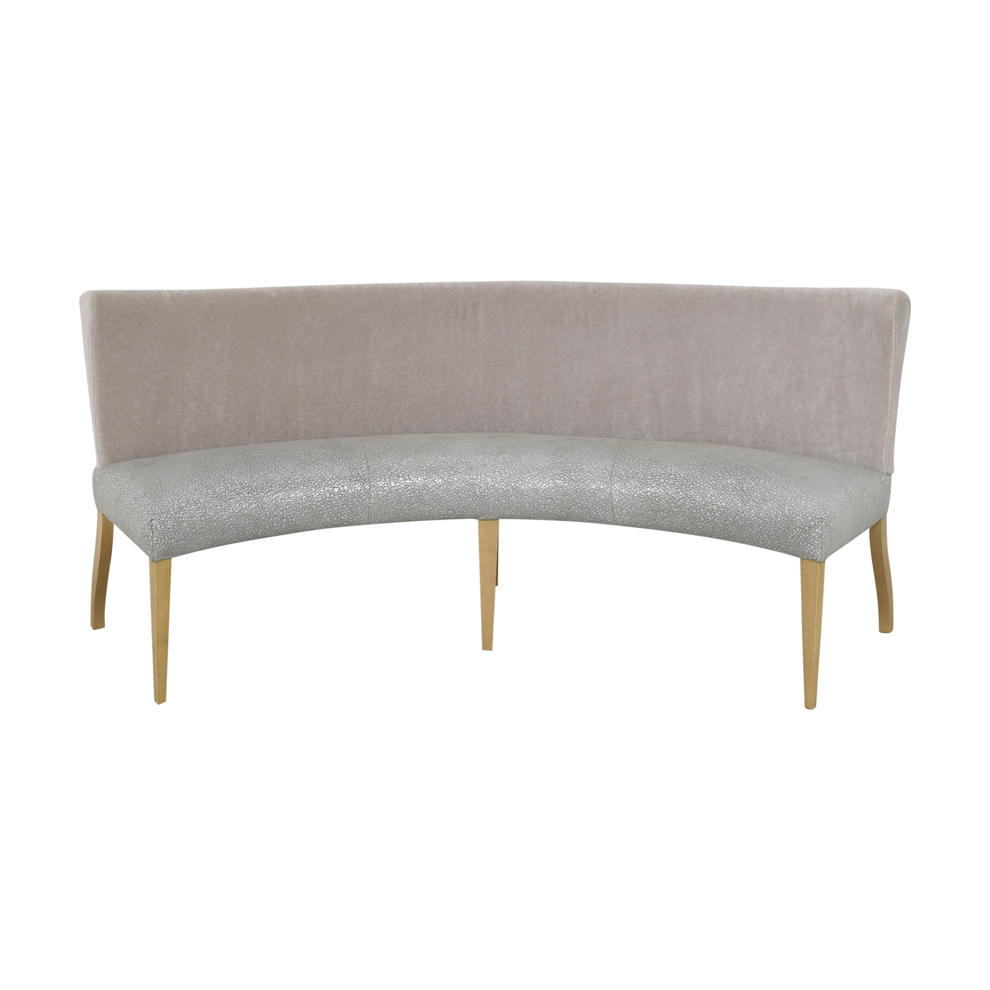 Benjamin Noriega-Ortiz Custom Curved Dining Bench ct