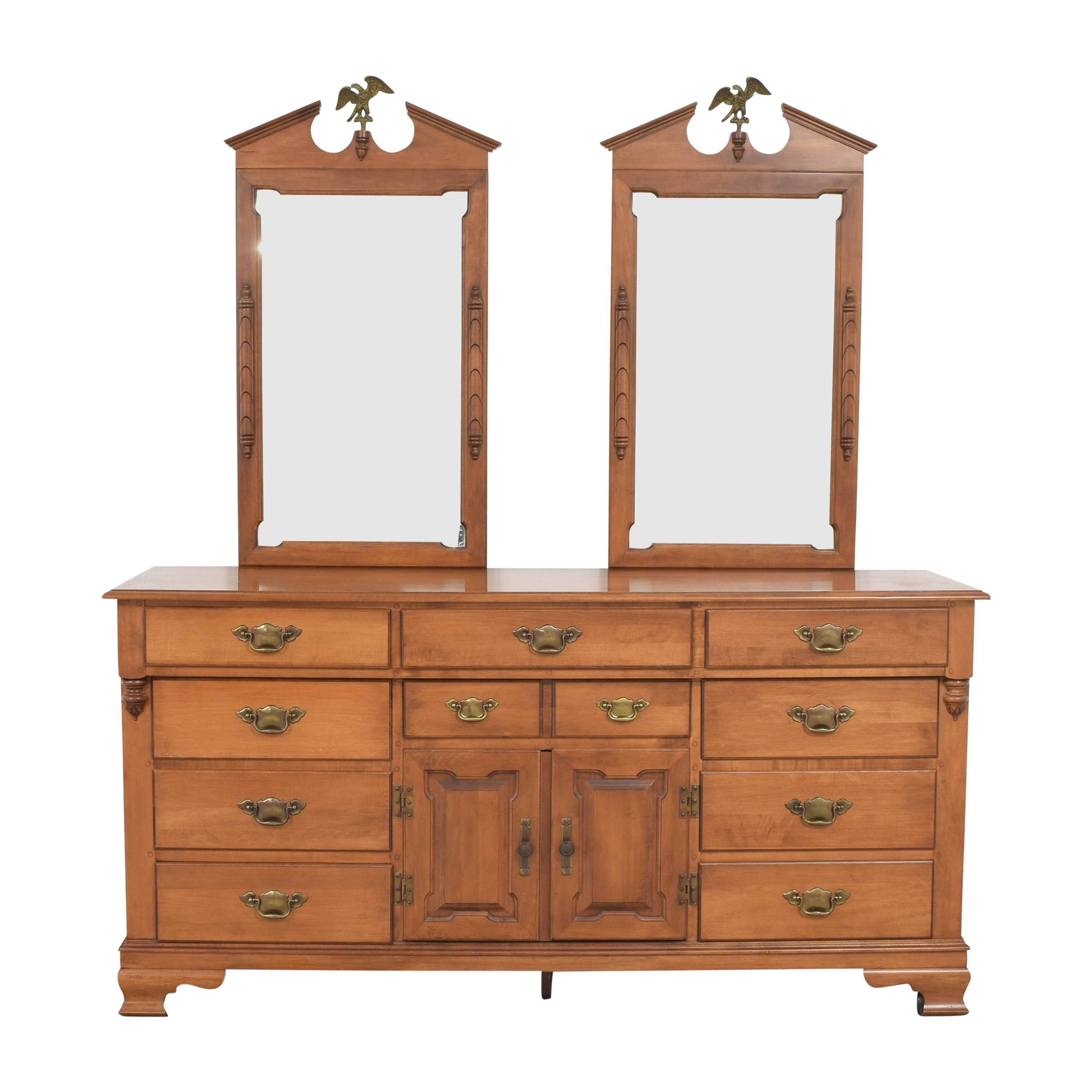 buy Tell City Young Republic Dresser with Mirrors Tell City
