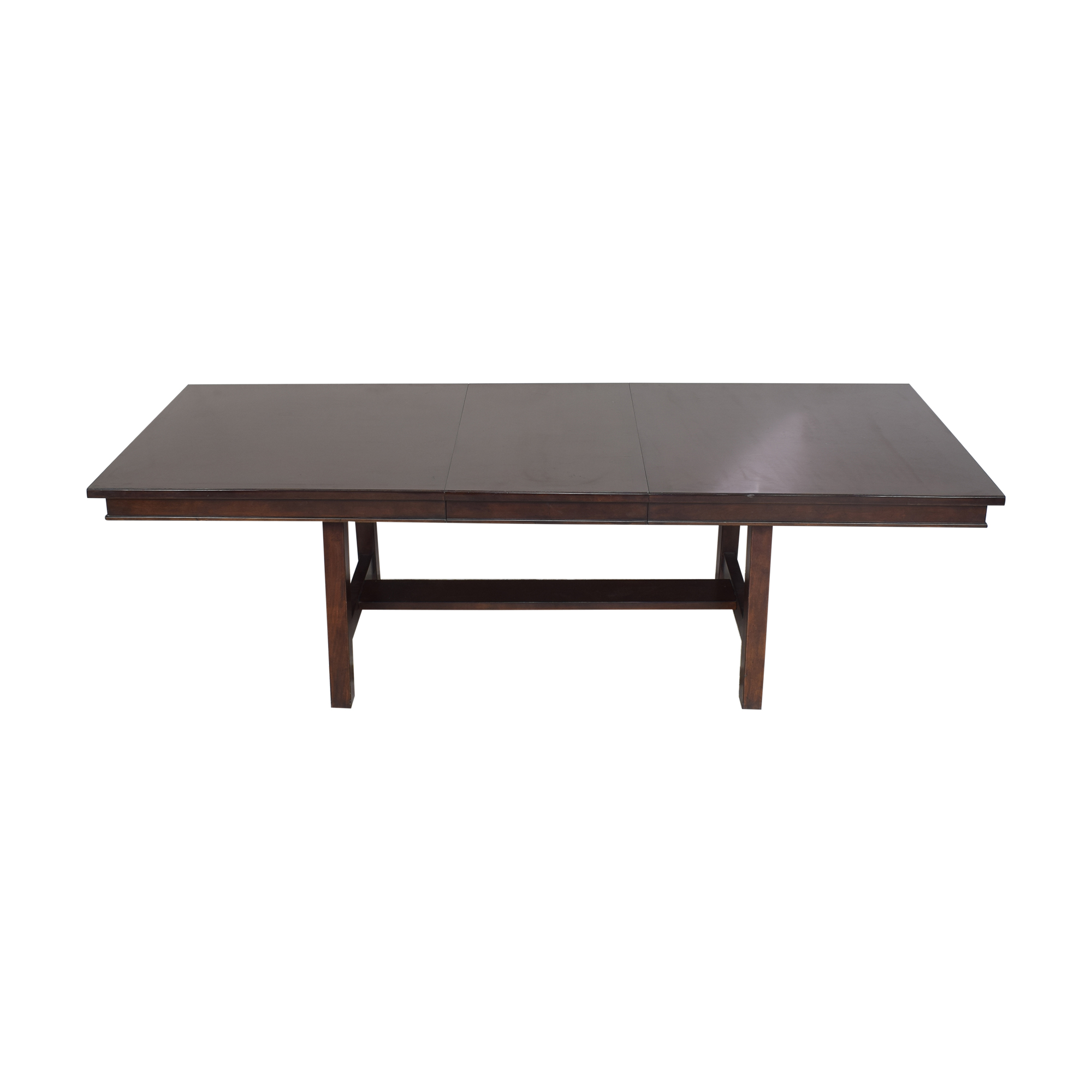 Extendable Trestle Dining Table second hand