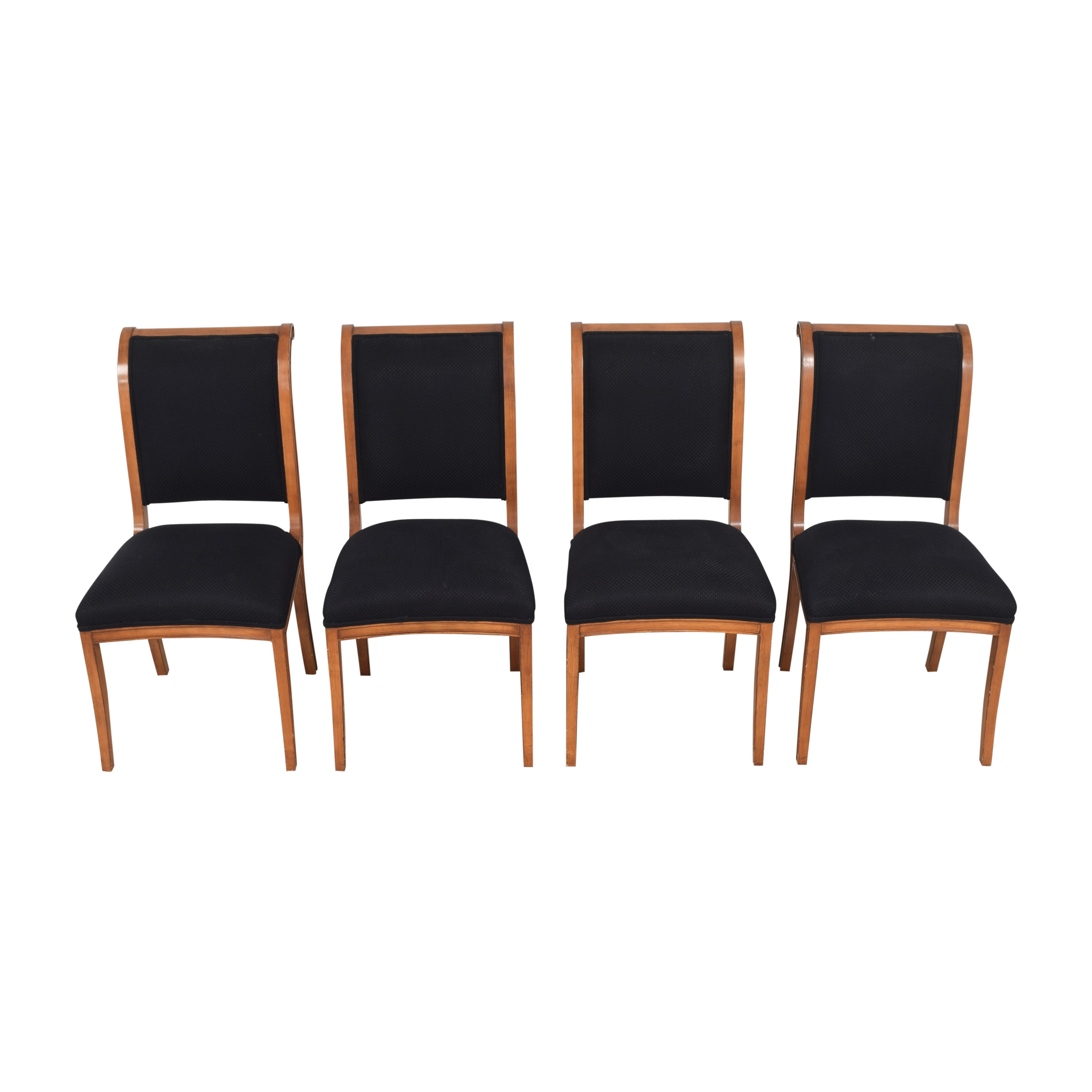 Custom Upholstered Dining Chairs black and brown
